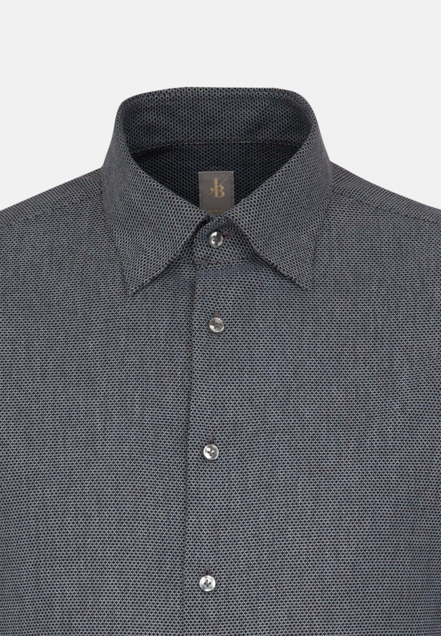 Struktur Business Hemd in Slim Fit mit Under-Button-Down-Kragen in Grau |  Jacques Britt Onlineshop