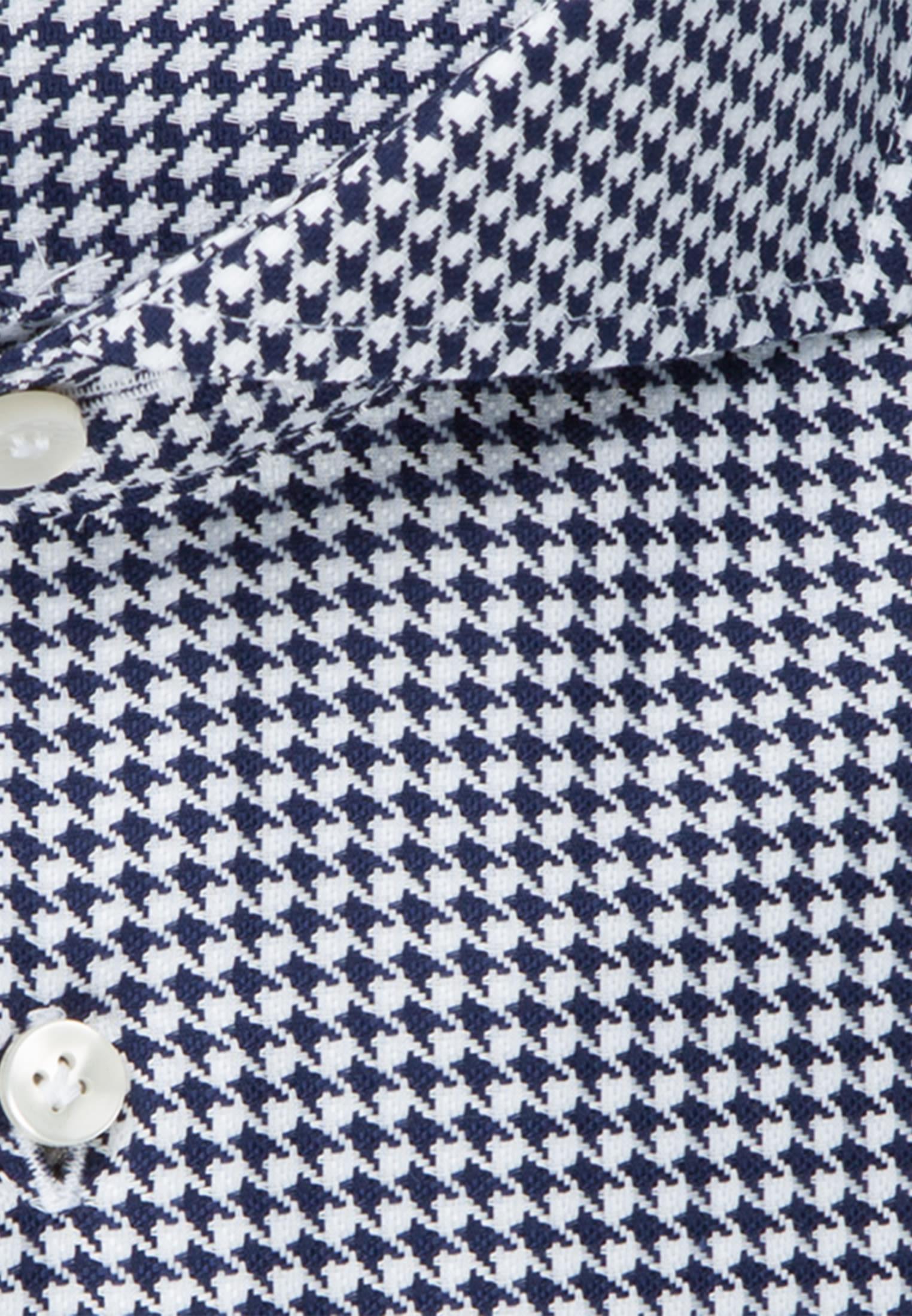 Pepita Business Hemd in Custom Fit mit Haifischkragen in Dunkelblau |  Jacques Britt Onlineshop