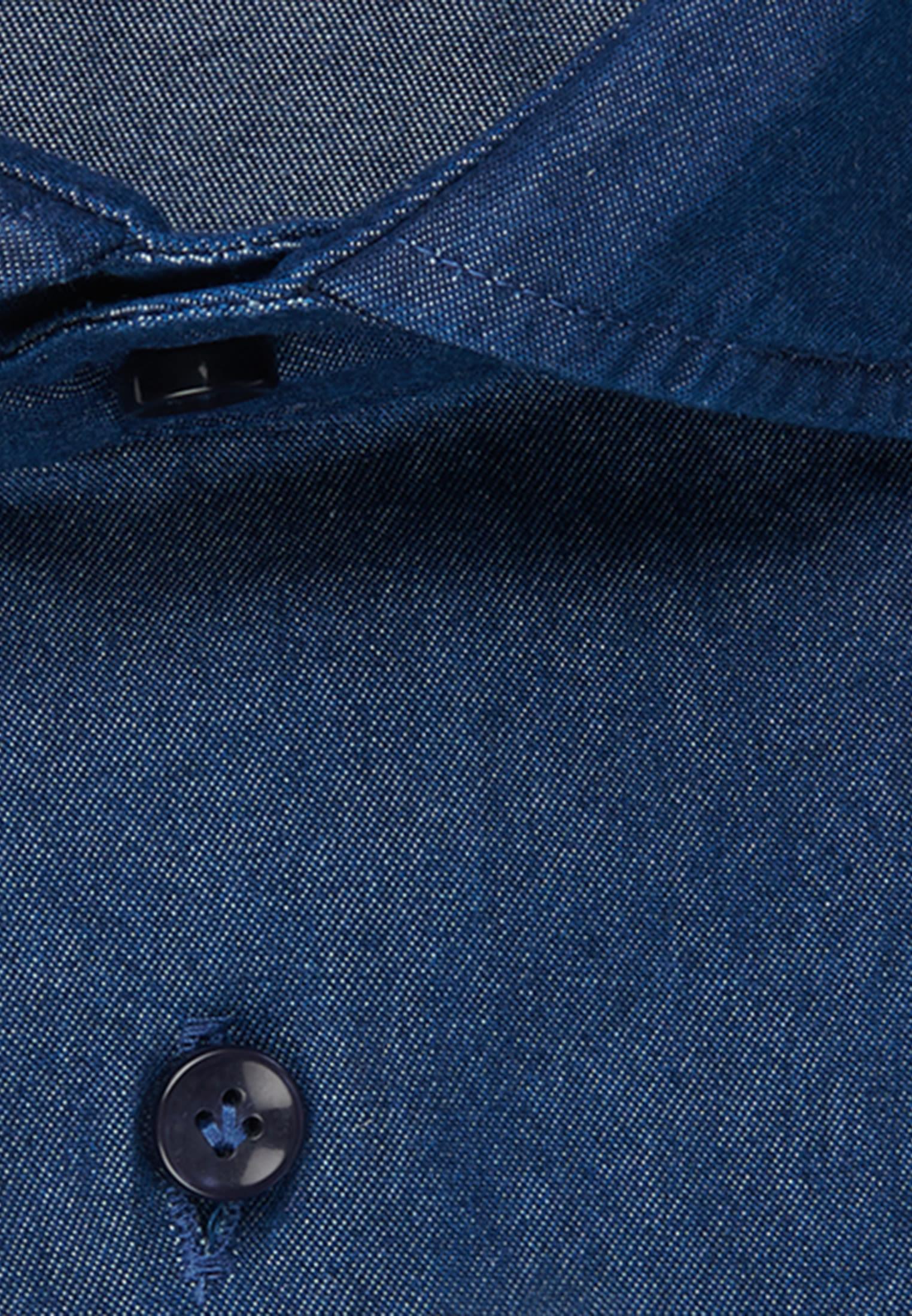 Denim Smart Casual Hemd in Perfect Fit mit Haifischkragen in Dunkelblau |  Jacques Britt Onlineshop