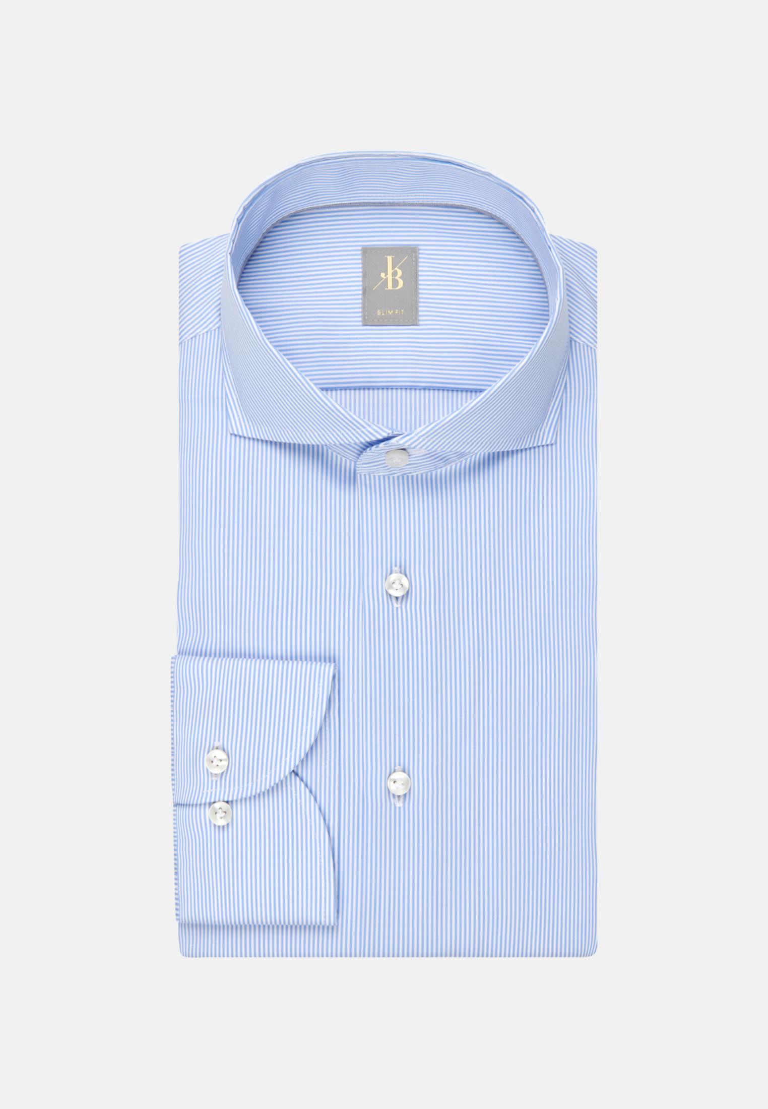 Twill Business Hemd in Slim Fit mit Haifischkragen in Hellblau |  Jacques Britt Onlineshop