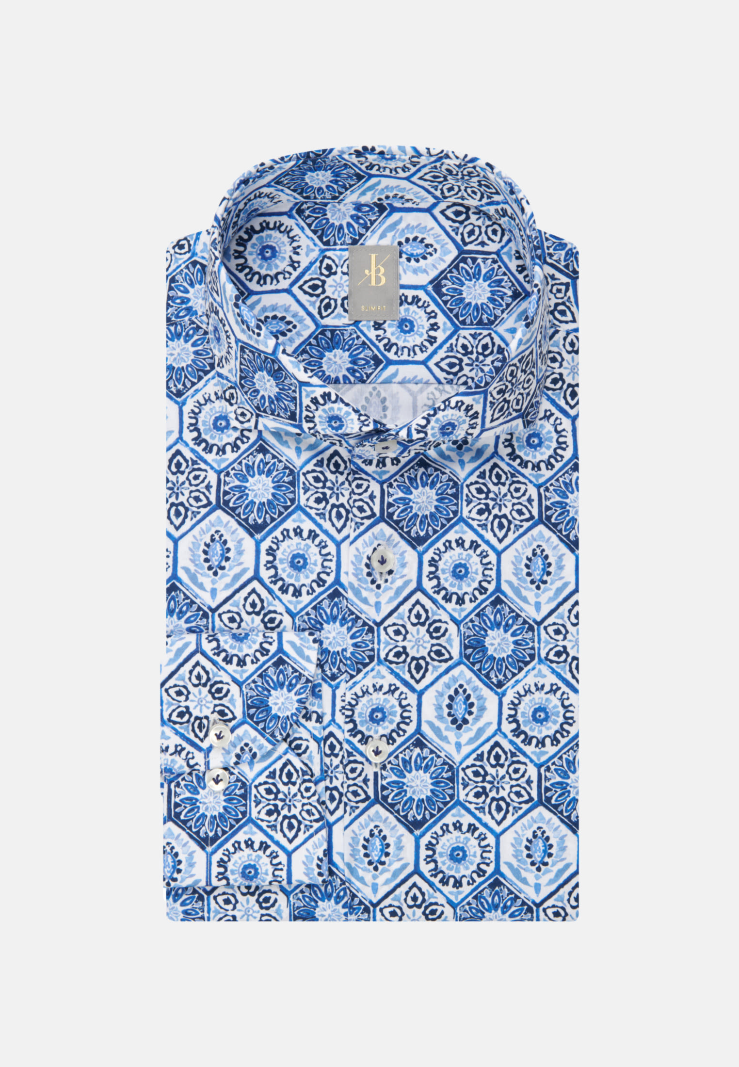Flammgarn Business Hemd in Slim Fit mit Haifischkragen in Hellblau    Jacques Britt Onlineshop
