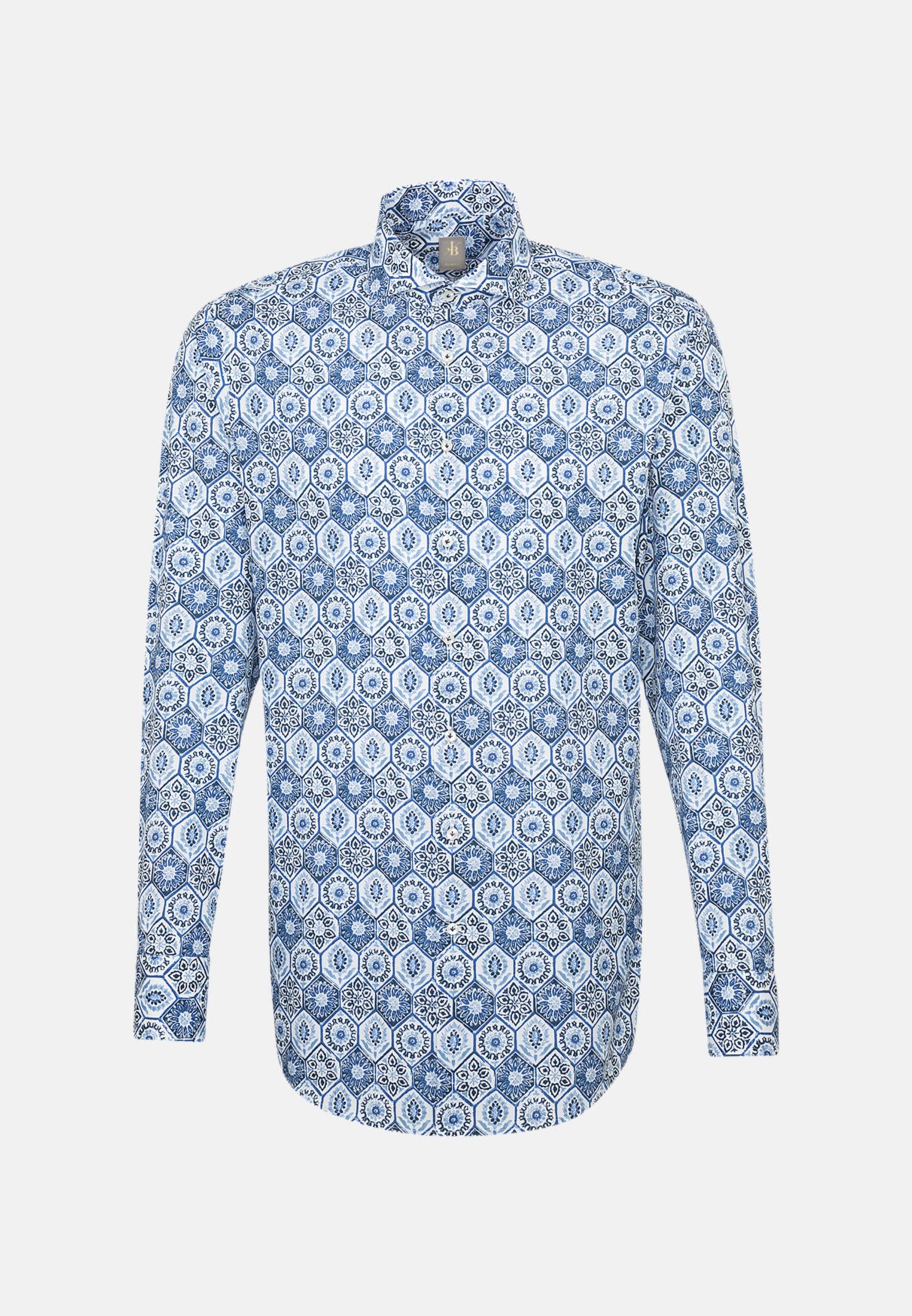 Flammgarn Business Hemd in Slim Fit mit Haifischkragen in Hellblau |  Jacques Britt Onlineshop