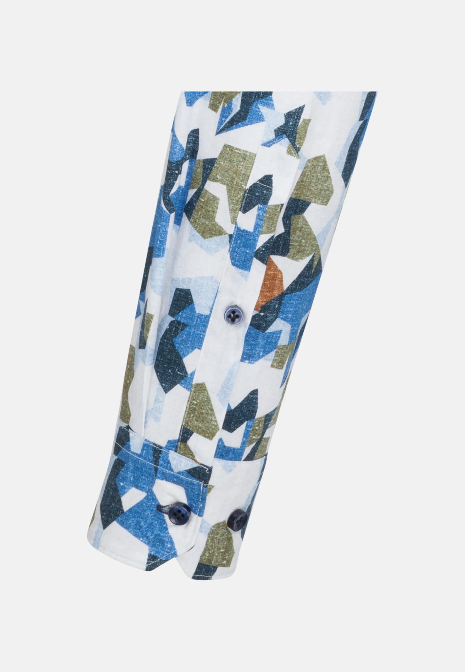 Twill Smart Casual Hemd in Perfect Fit mit Kentkragen in Mittelblau |  Jacques Britt Onlineshop