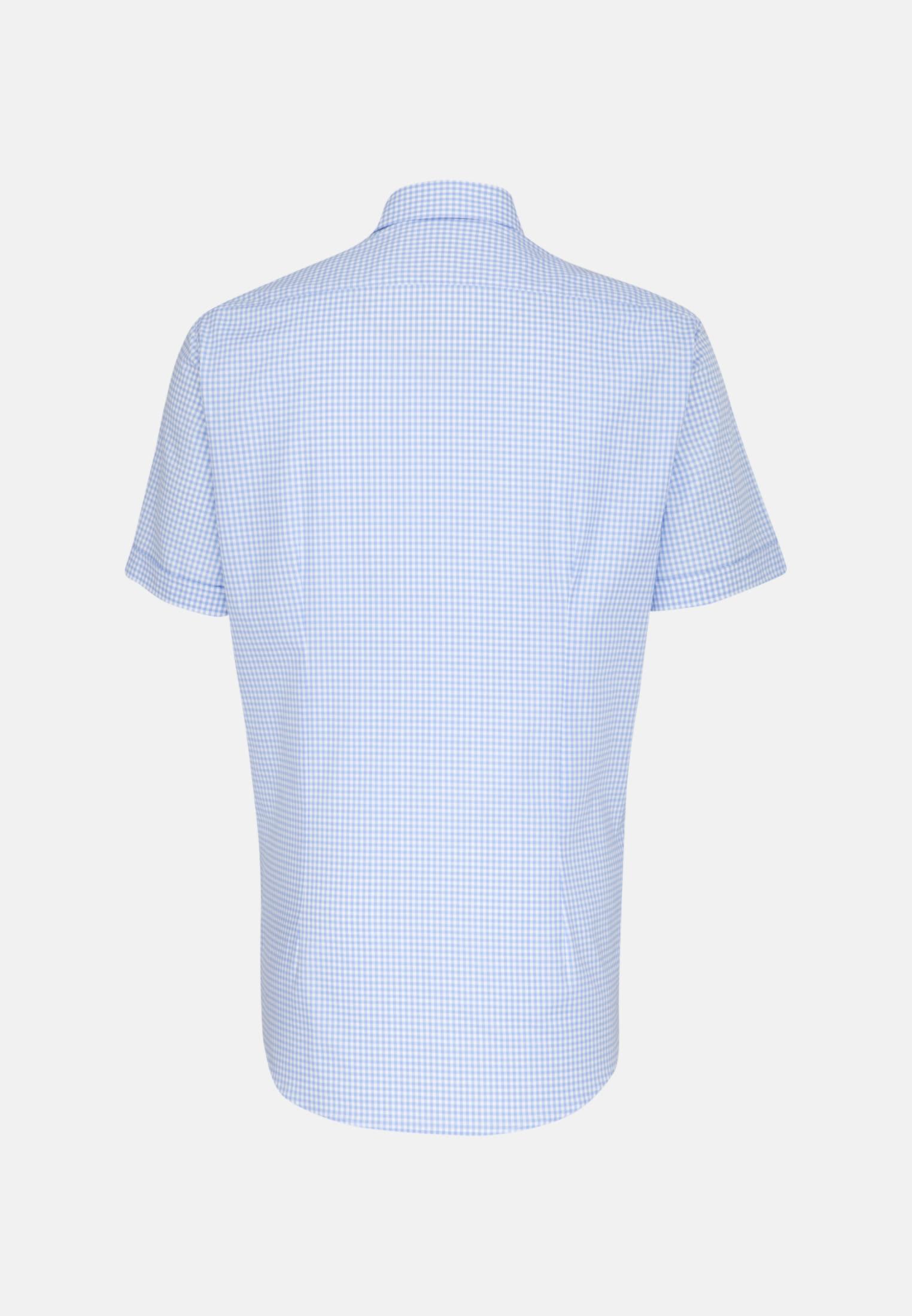 Kurzarm Oxford Business Hemd in Custom Fit mit Kentkragen in Hellblau |  Jacques Britt Onlineshop