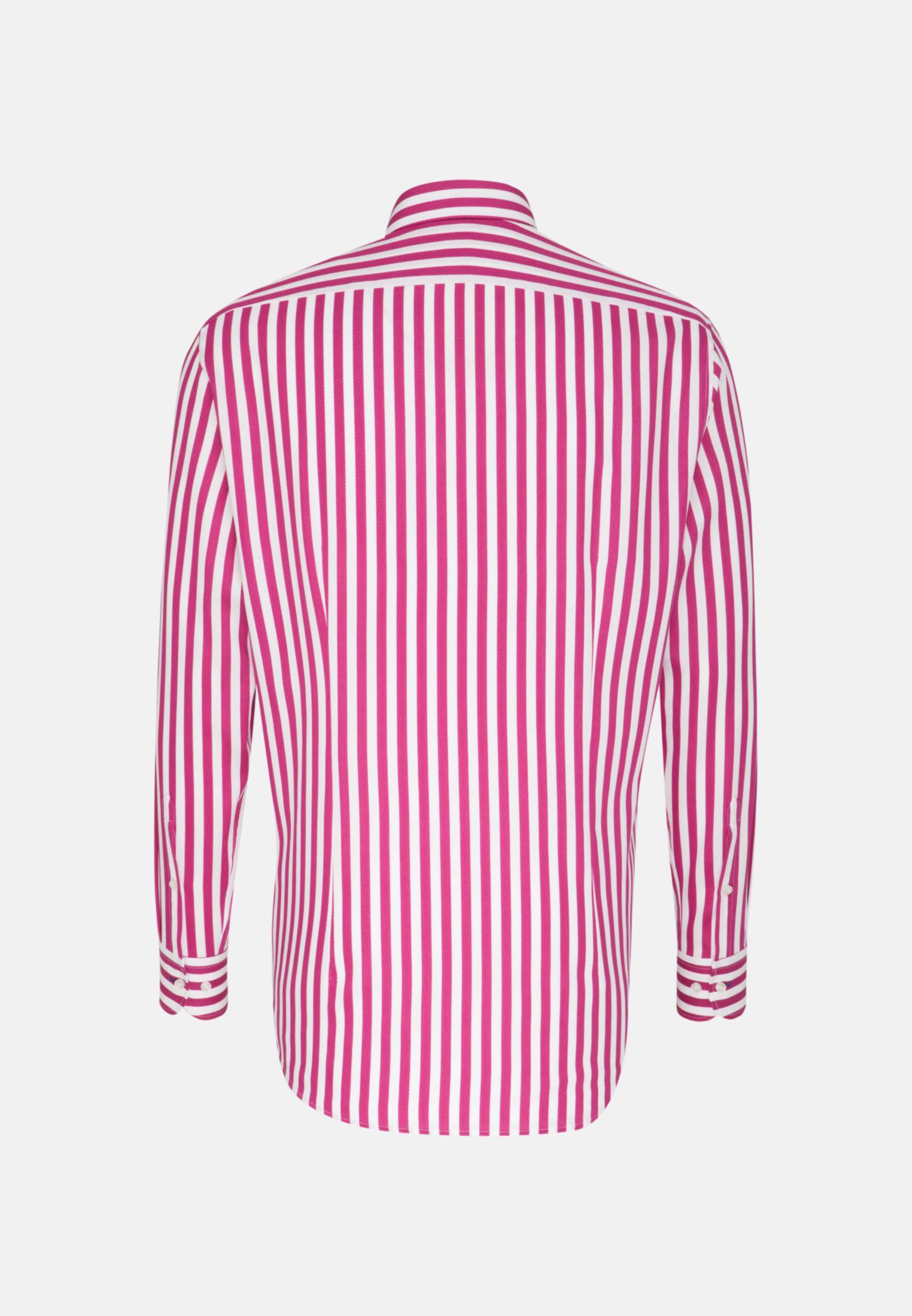 Struktur Business Hemd in Custom Fit mit Under-Button-Down-Kragen in Rosa/Pink |  Jacques Britt Onlineshop