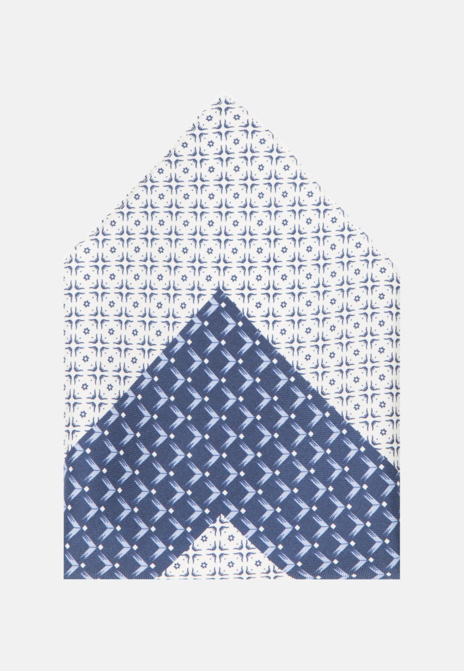 Einstecktuch aus 100% Seide in Mittelblau |  Jacques Britt Onlineshop