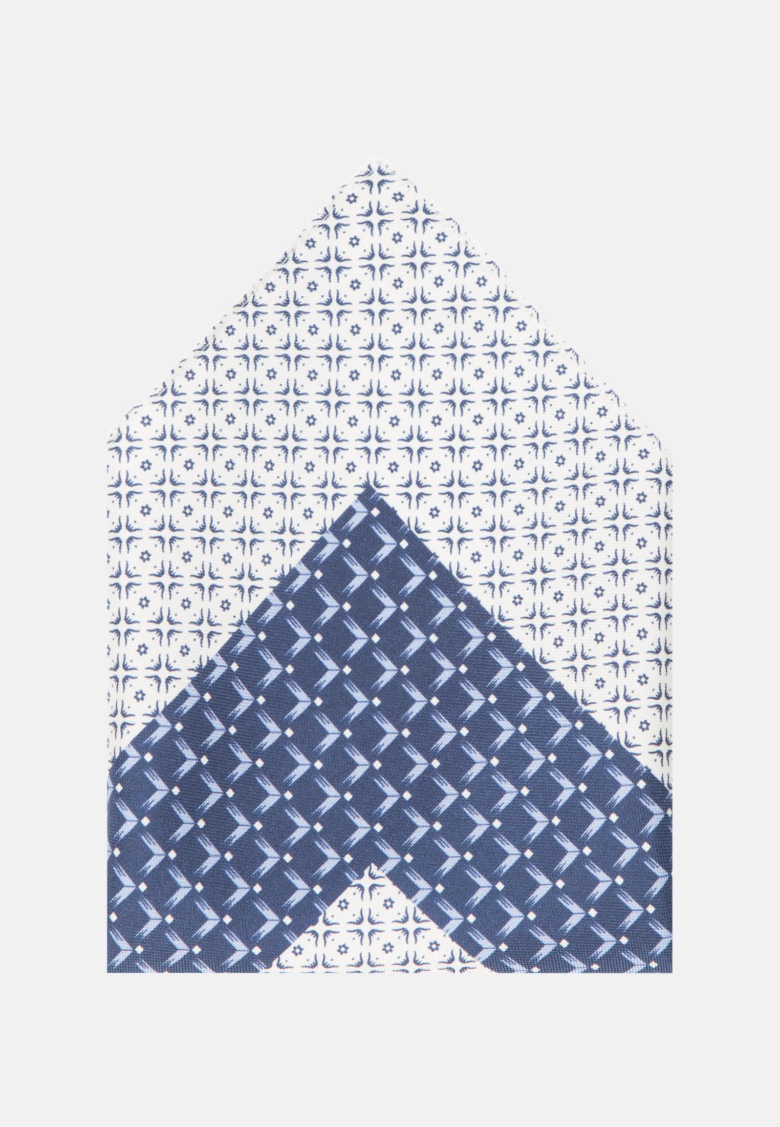 Einstecktuch aus 100% Seide in Mittelblau    Jacques Britt Onlineshop