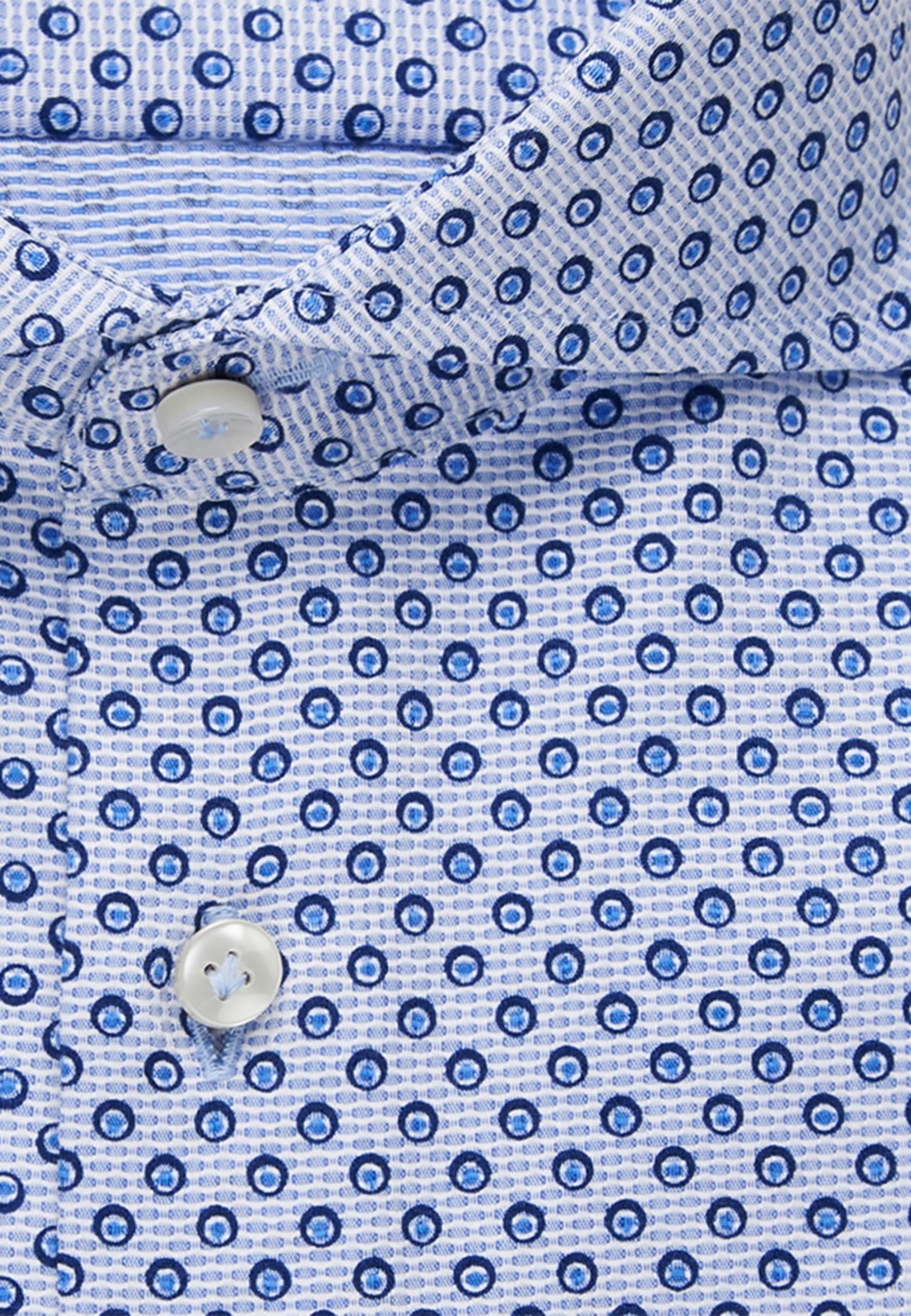 Struktur Business Hemd in Slim Fit mit Haifischkragen in Hellblau    Jacques Britt Onlineshop
