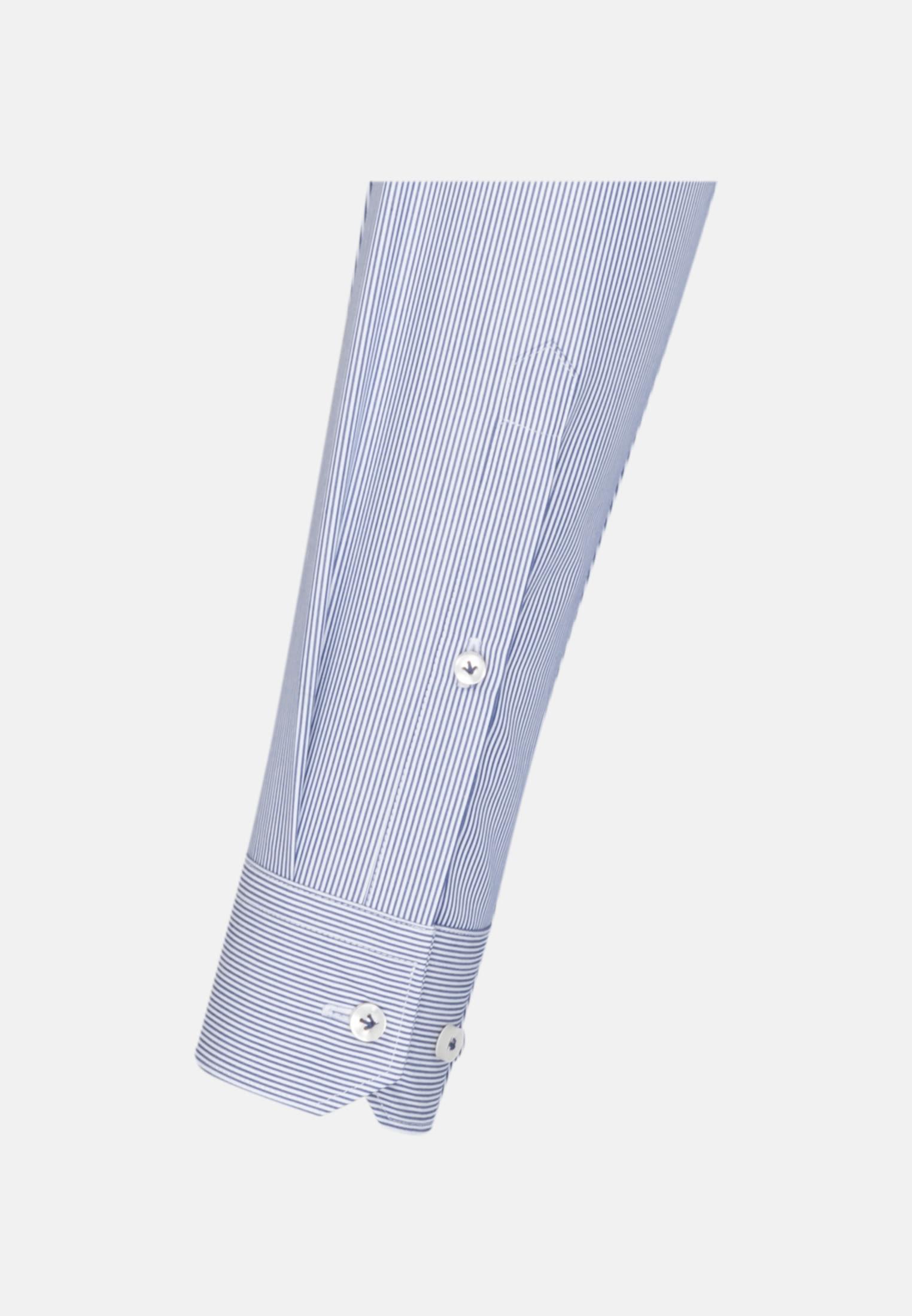 Popeline Business Hemd in Custom Fit mit Kentkragen in Mittelblau |  Jacques Britt Onlineshop