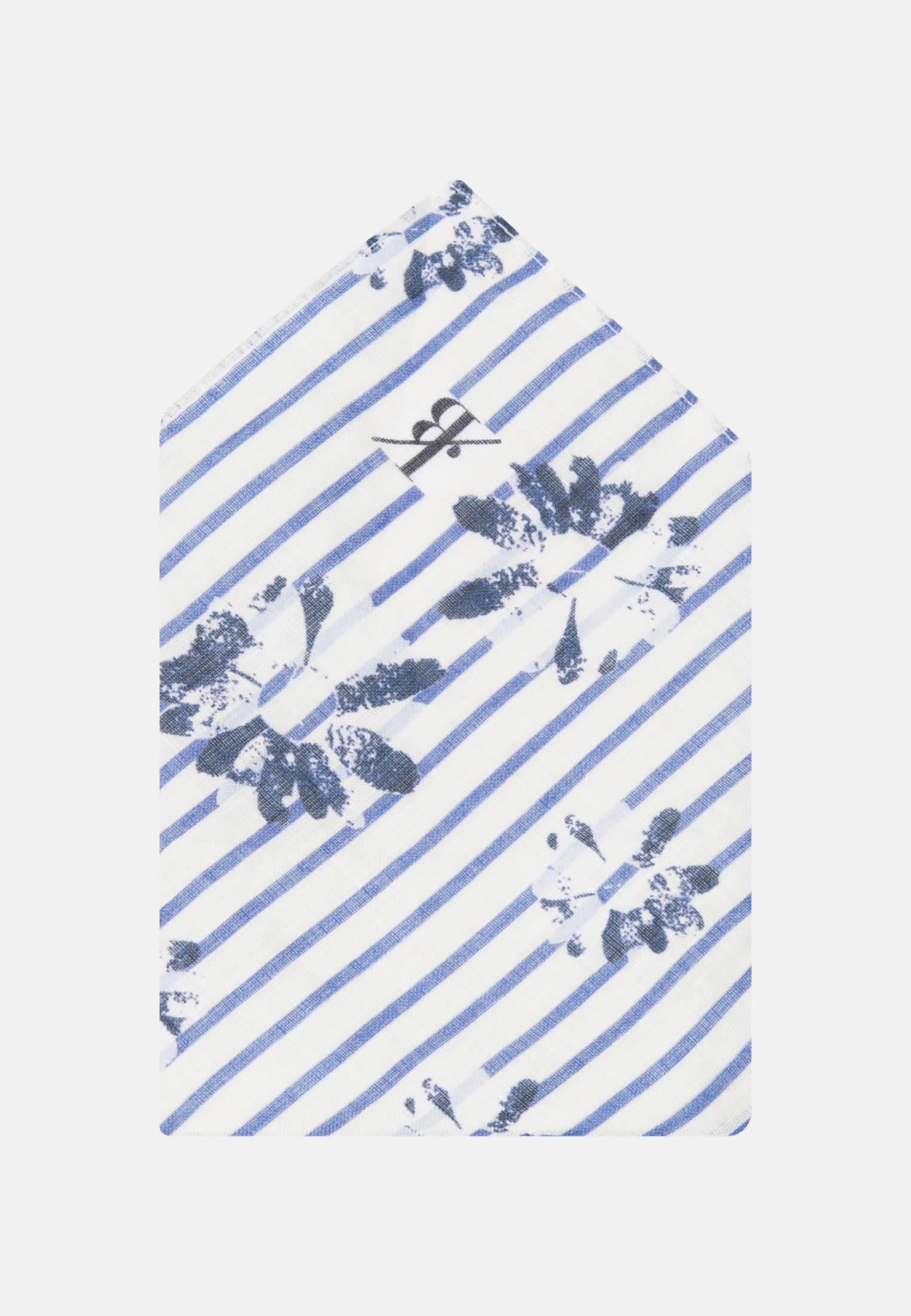 Einstecktuch aus 100% Leinen in Mittelblau    Jacques Britt Onlineshop