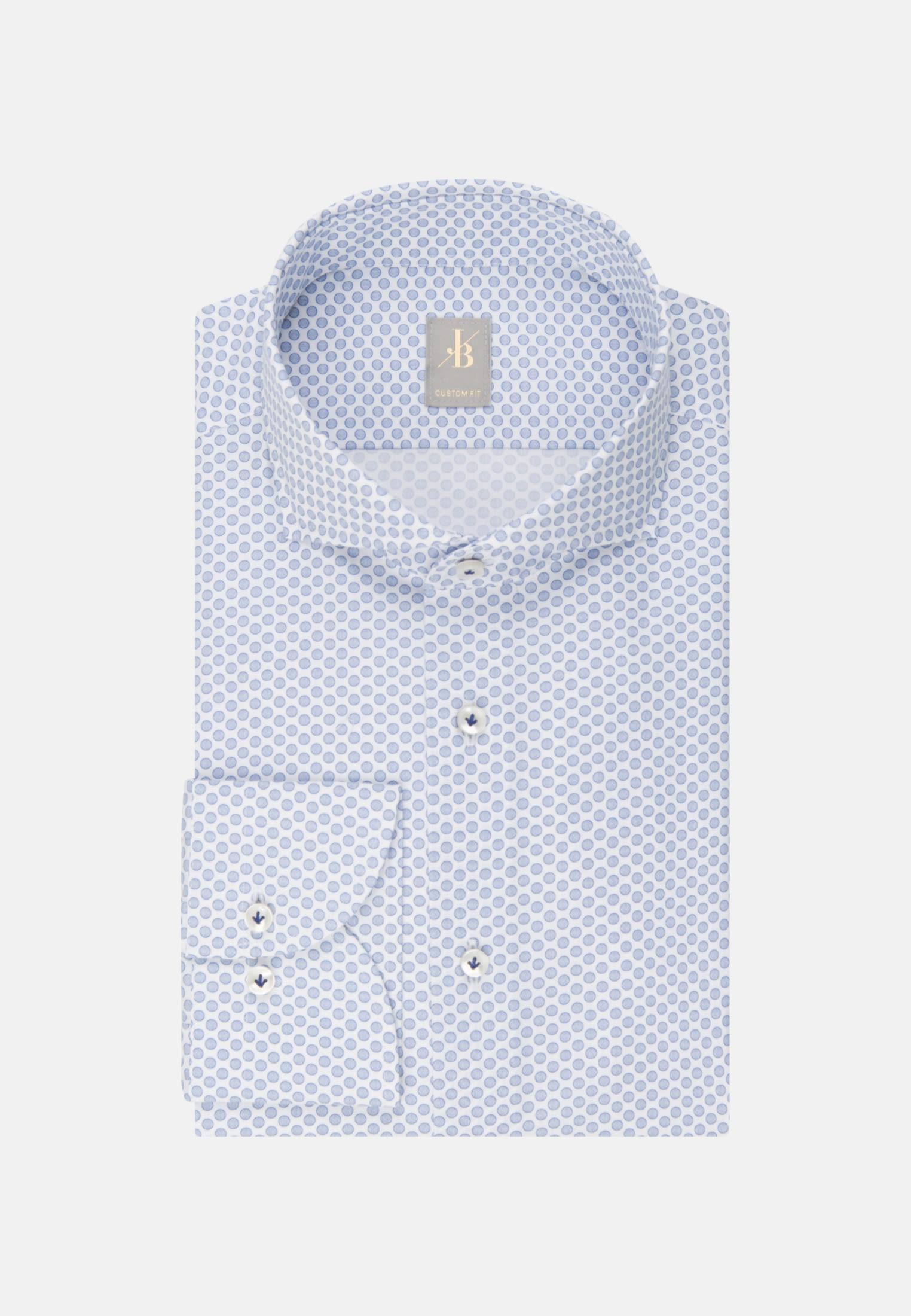 Popeline Business Hemd in Custom Fit mit Haifischkragen in Hellblau |  Jacques Britt Onlineshop