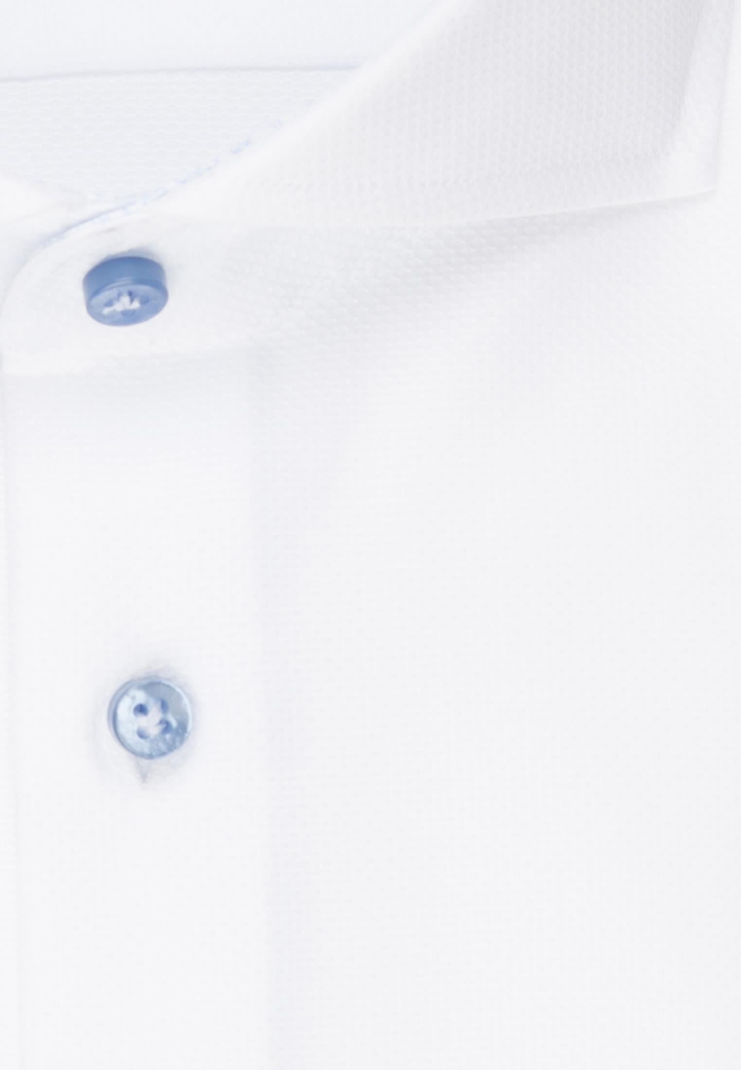 Struktur Business Hemd in Custom Fit mit Haifischkragen in Weiß    Jacques Britt Onlineshop