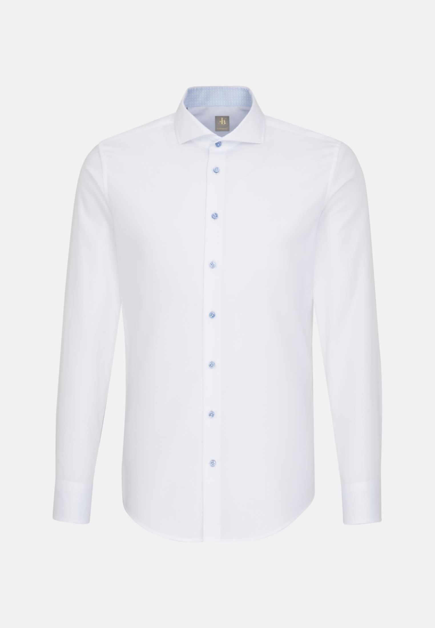 Struktur Business Hemd in Custom Fit mit Haifischkragen in Weiß |  Jacques Britt Onlineshop