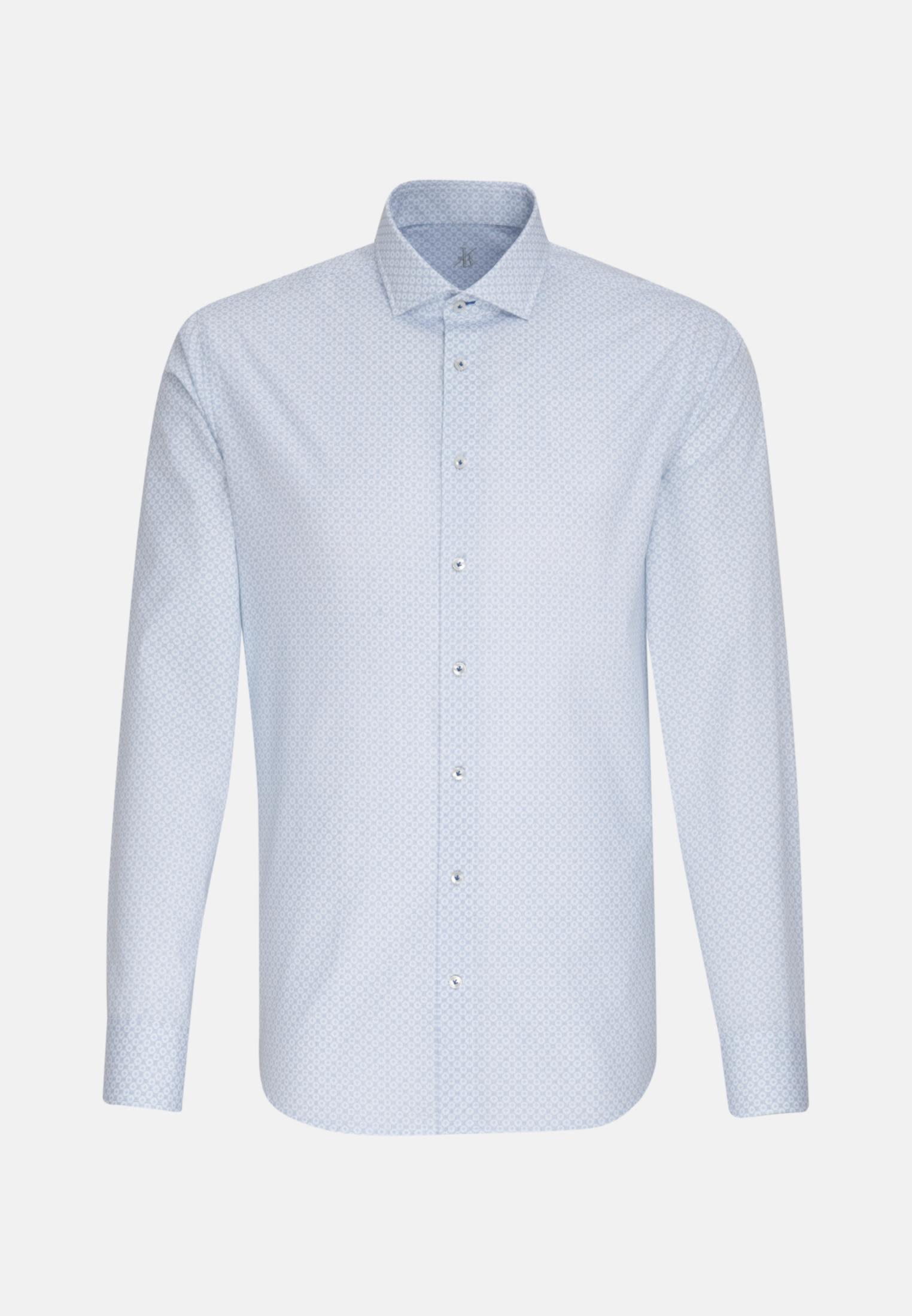 Popeline Smart Casual Hemd in Perfect Fit mit Haifischkragen in Hellblau |  Jacques Britt Onlineshop