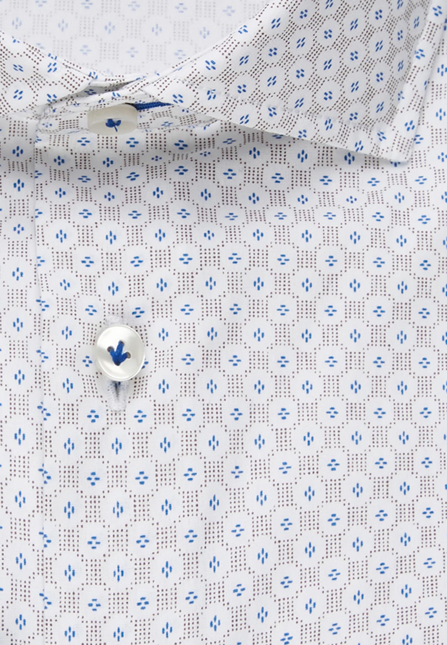 Popeline Smart Casual Hemd in Perfect Fit mit Haifischkragen in Braun    Jacques Britt Onlineshop