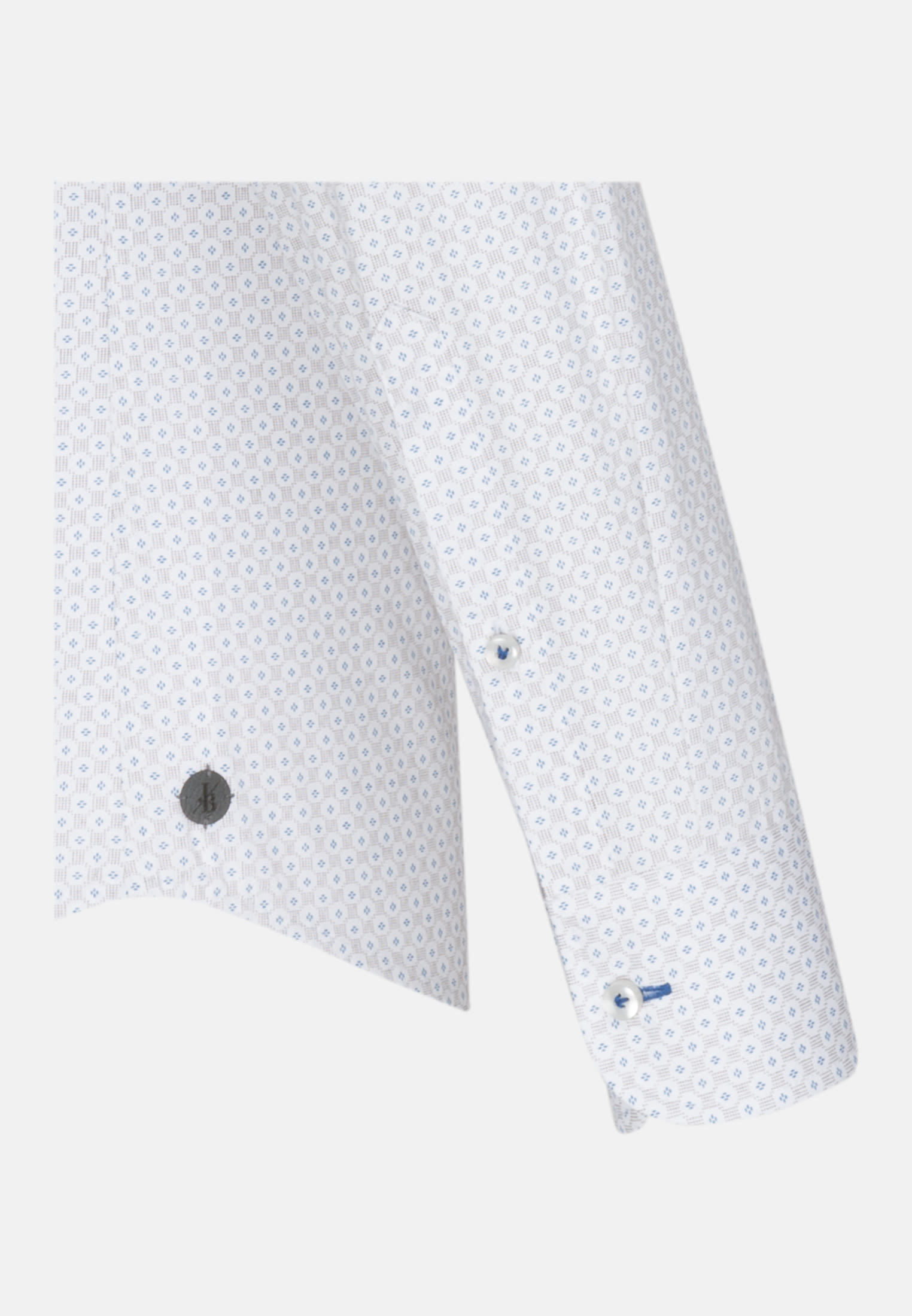 Popeline Smart Casual Hemd in Perfect Fit mit Haifischkragen in Braun |  Jacques Britt Onlineshop