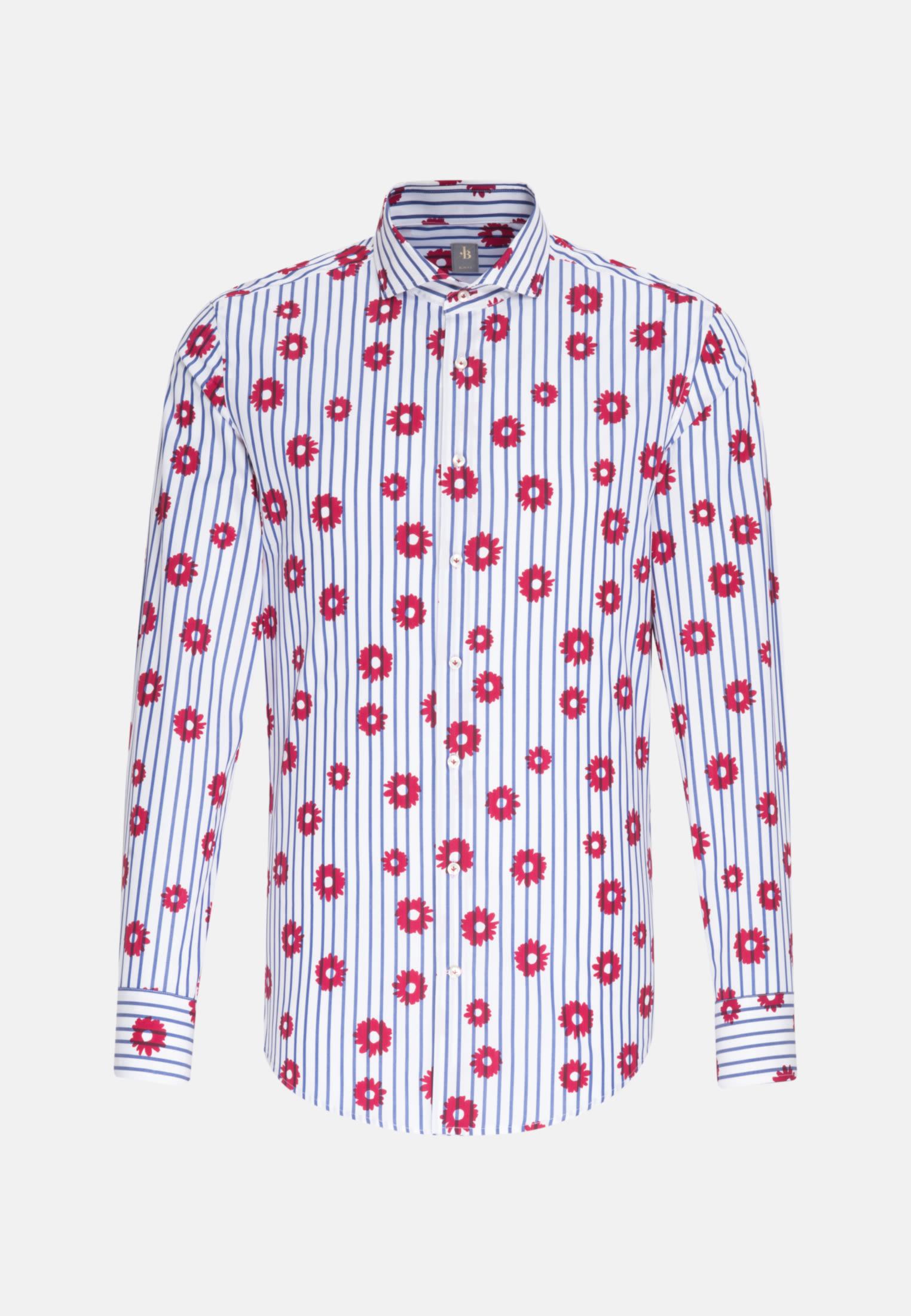 Popeline Business Hemd in Slim Fit mit Haifischkragen in Rot |  Jacques Britt Onlineshop