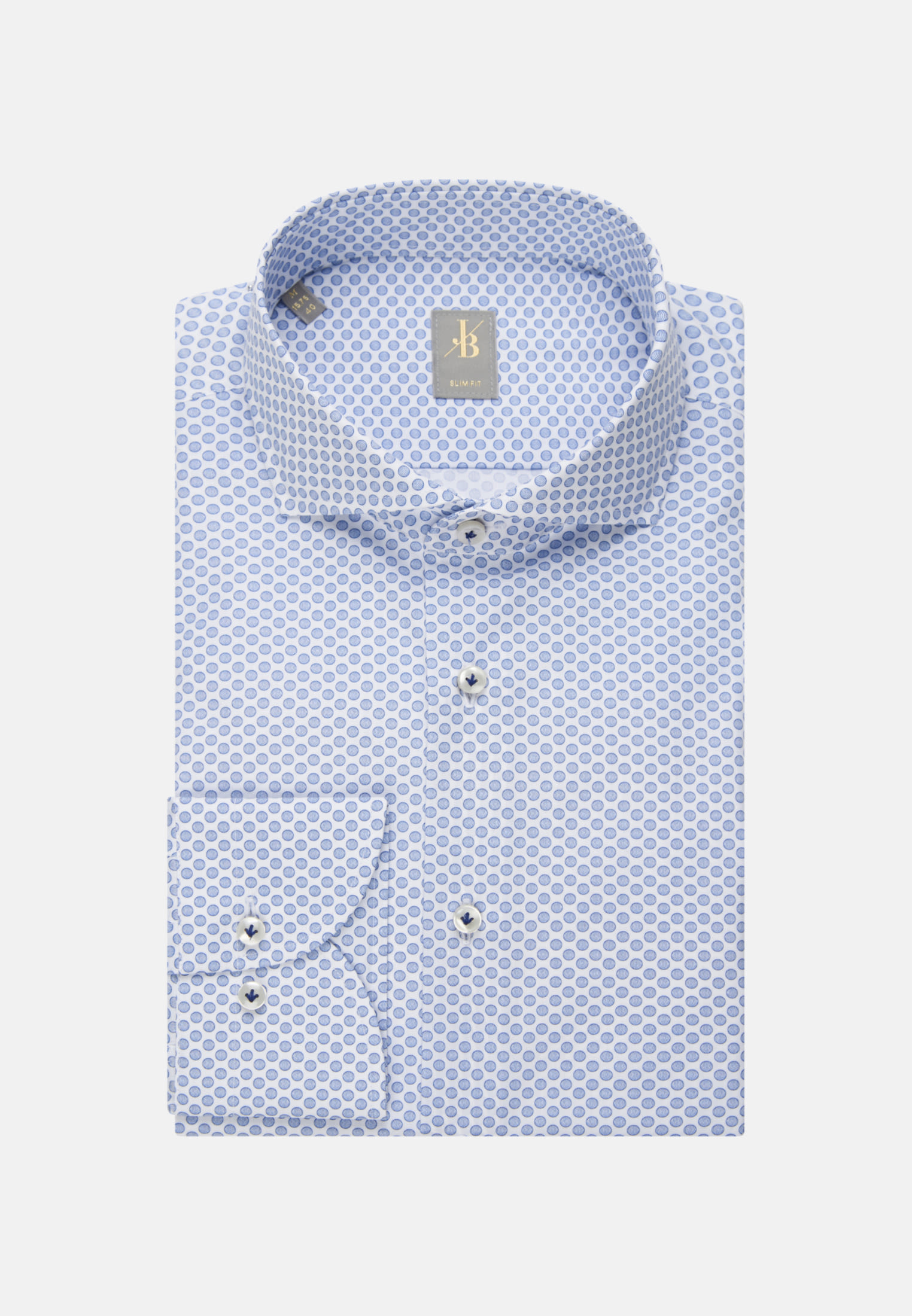 Popeline Business Hemd in Slim Fit mit Haifischkragen in Hellblau |  Jacques Britt Onlineshop