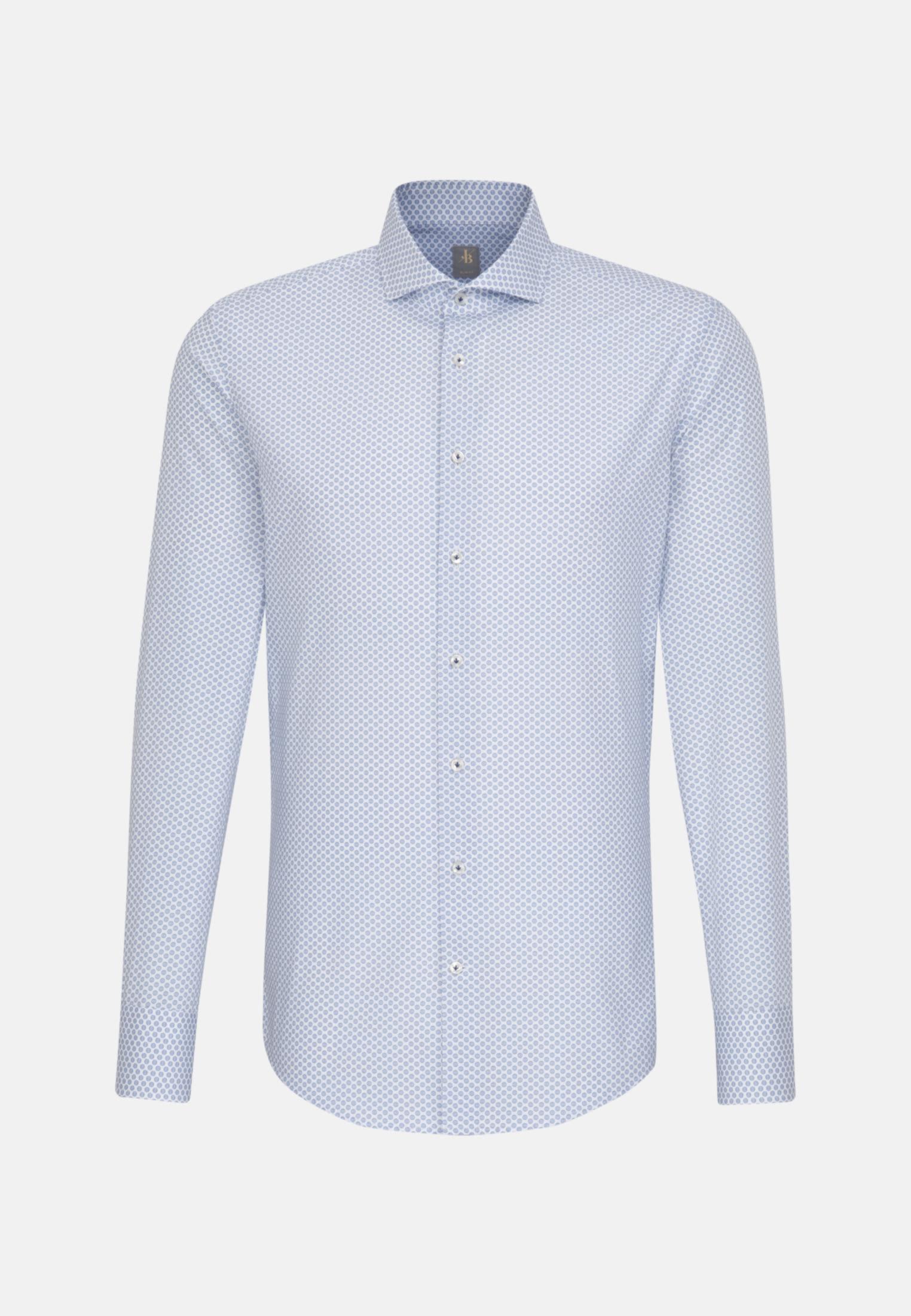 Popeline Business Hemd in Slim Fit mit Haifischkragen in Hellblau    Jacques Britt Onlineshop