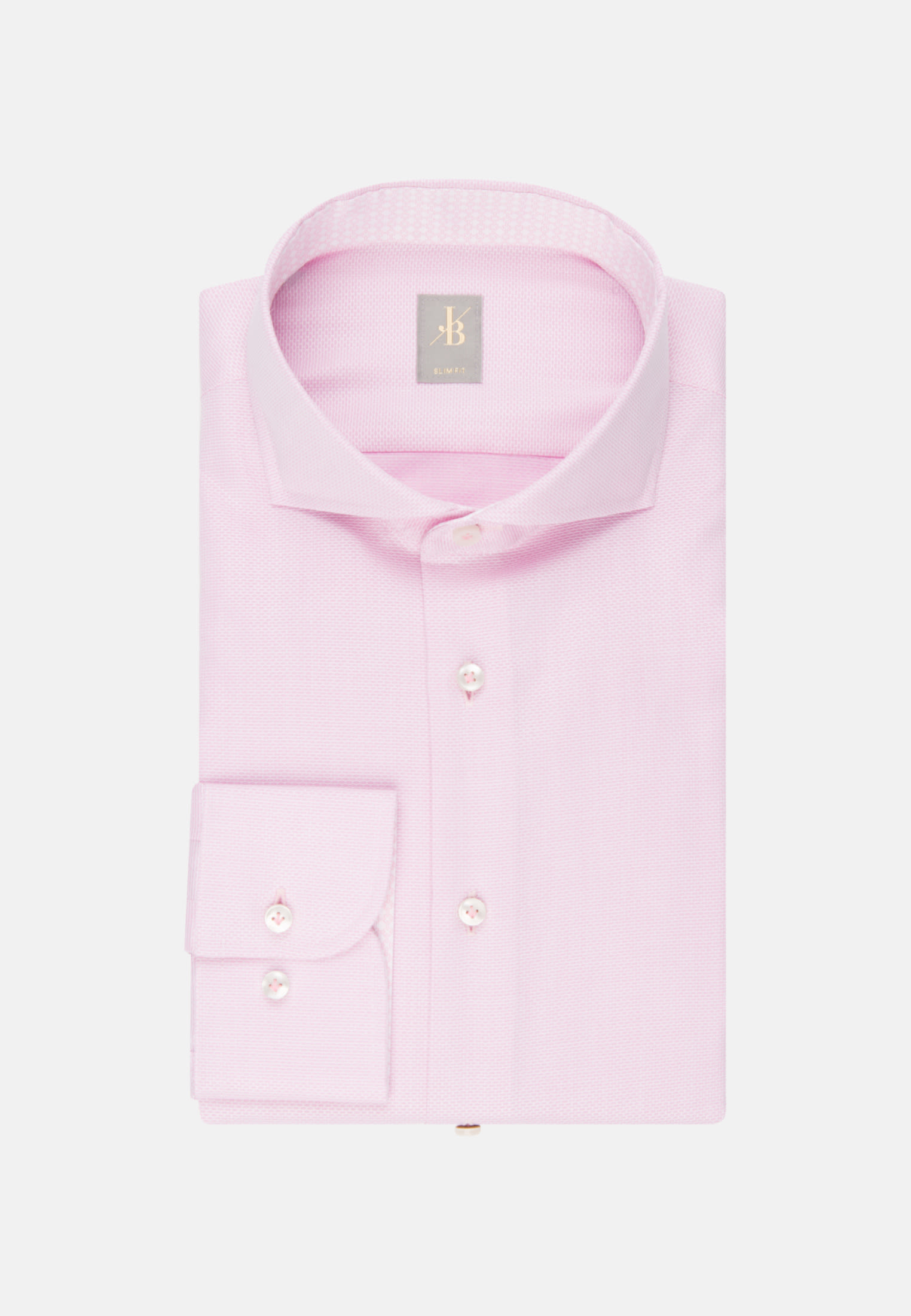 Struktur Business Hemd in Slim Fit mit Haifischkragen in Rosa/Pink |  Jacques Britt Onlineshop
