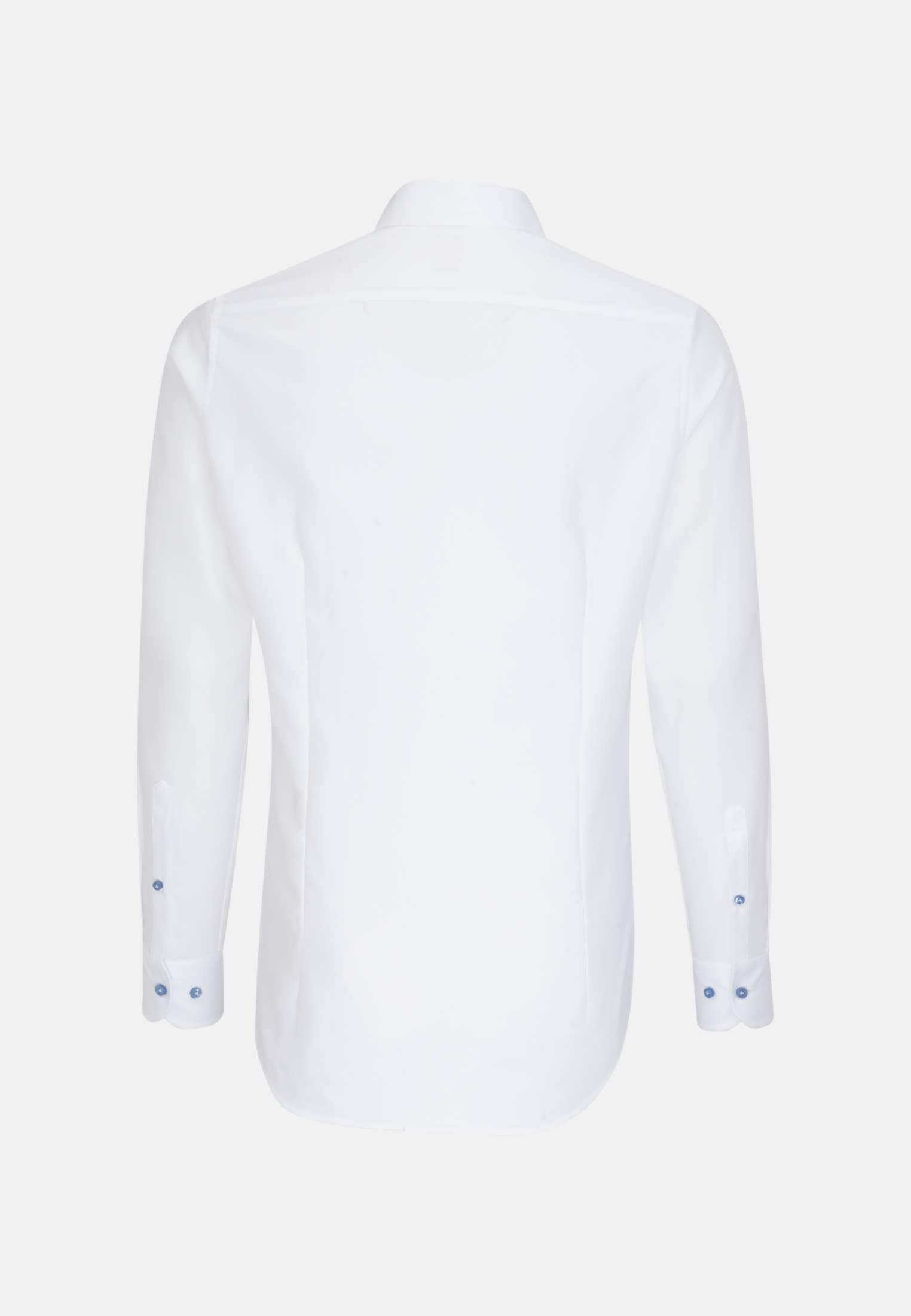 Struktur Business Hemd in Slim Fit mit Haifischkragen in Weiß |  Jacques Britt Onlineshop