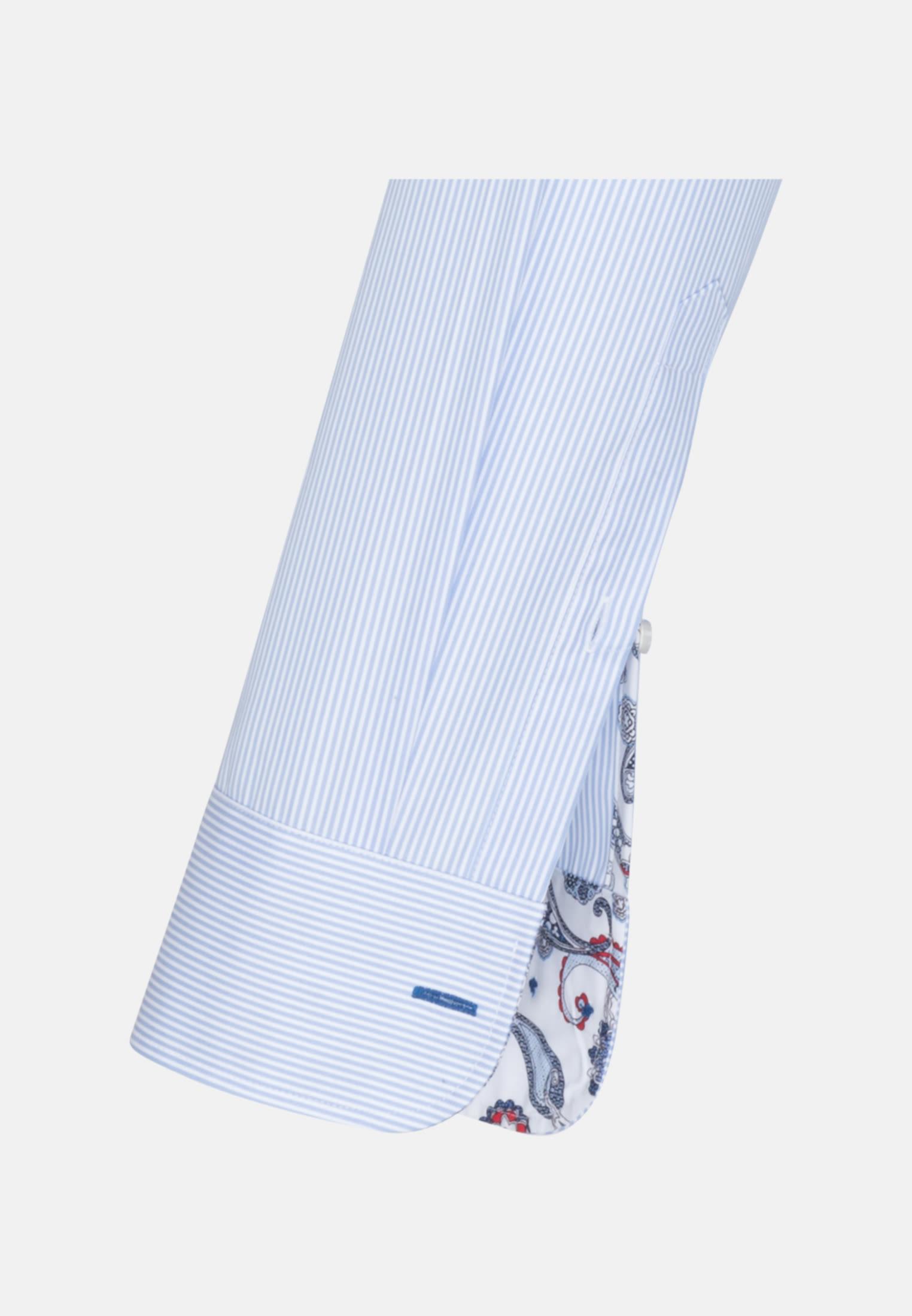 Popeline Business Hemd in Custom Fit mit Under-Button-Down-Kragen in Hellblau |  Jacques Britt Onlineshop