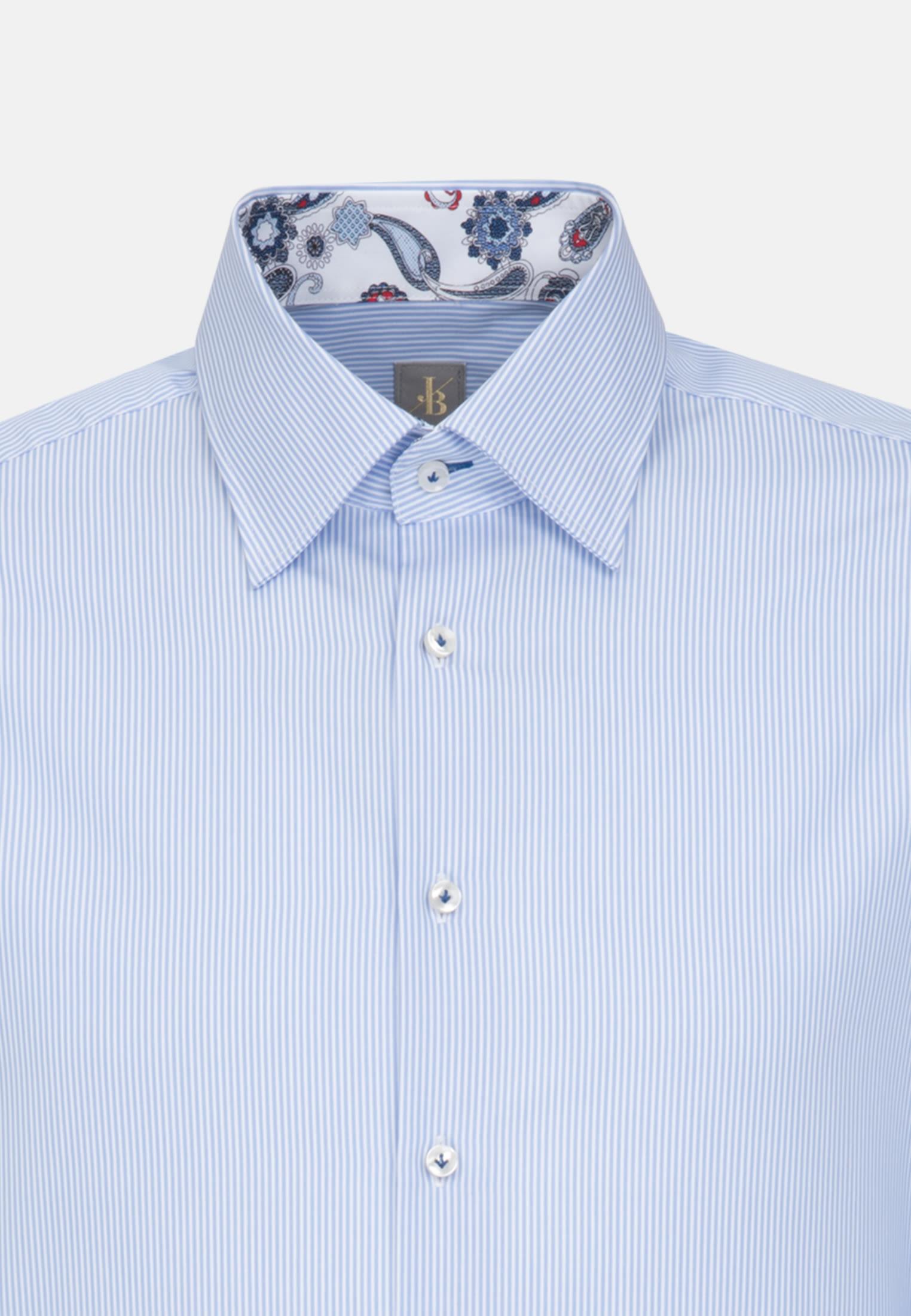 Popeline Business Hemd in Slim Fit mit Under-Button-Down-Kragen in Hellblau    Jacques Britt Onlineshop