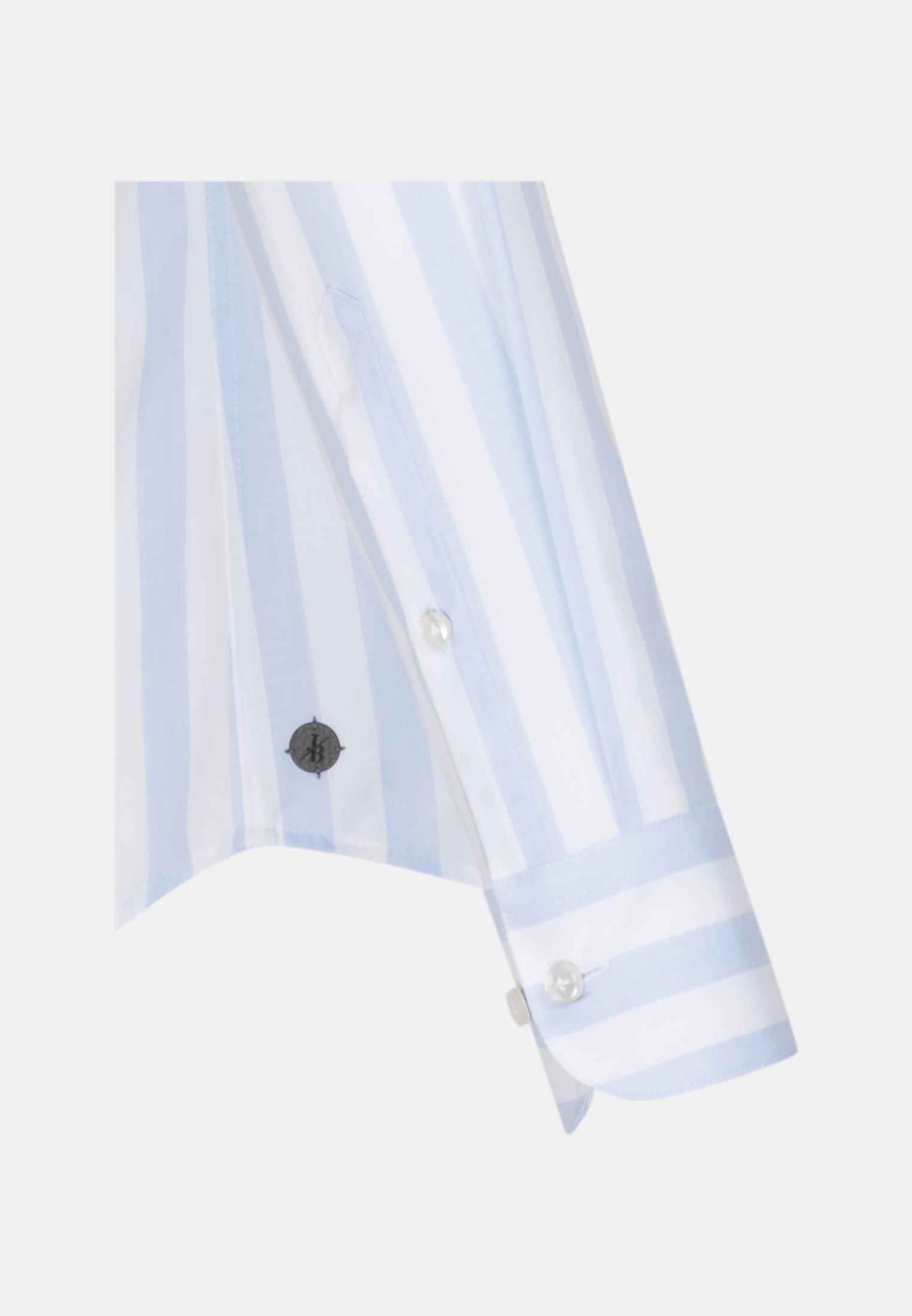 Oxford Smart Casual Hemd in Perfect Fit mit Stehkragen in Hellblau |  Jacques Britt Onlineshop