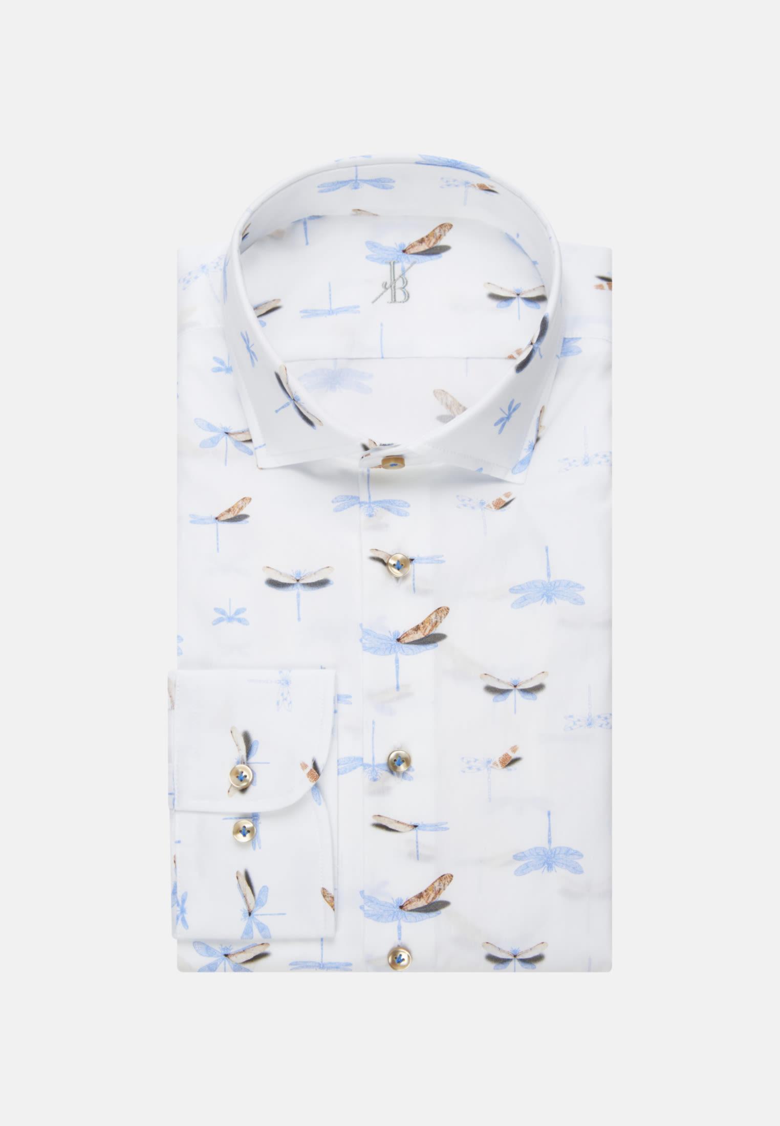Oxford Smart Casual Hemd in Perfect Fit mit Haifischkragen in Hellblau    Jacques Britt Onlineshop
