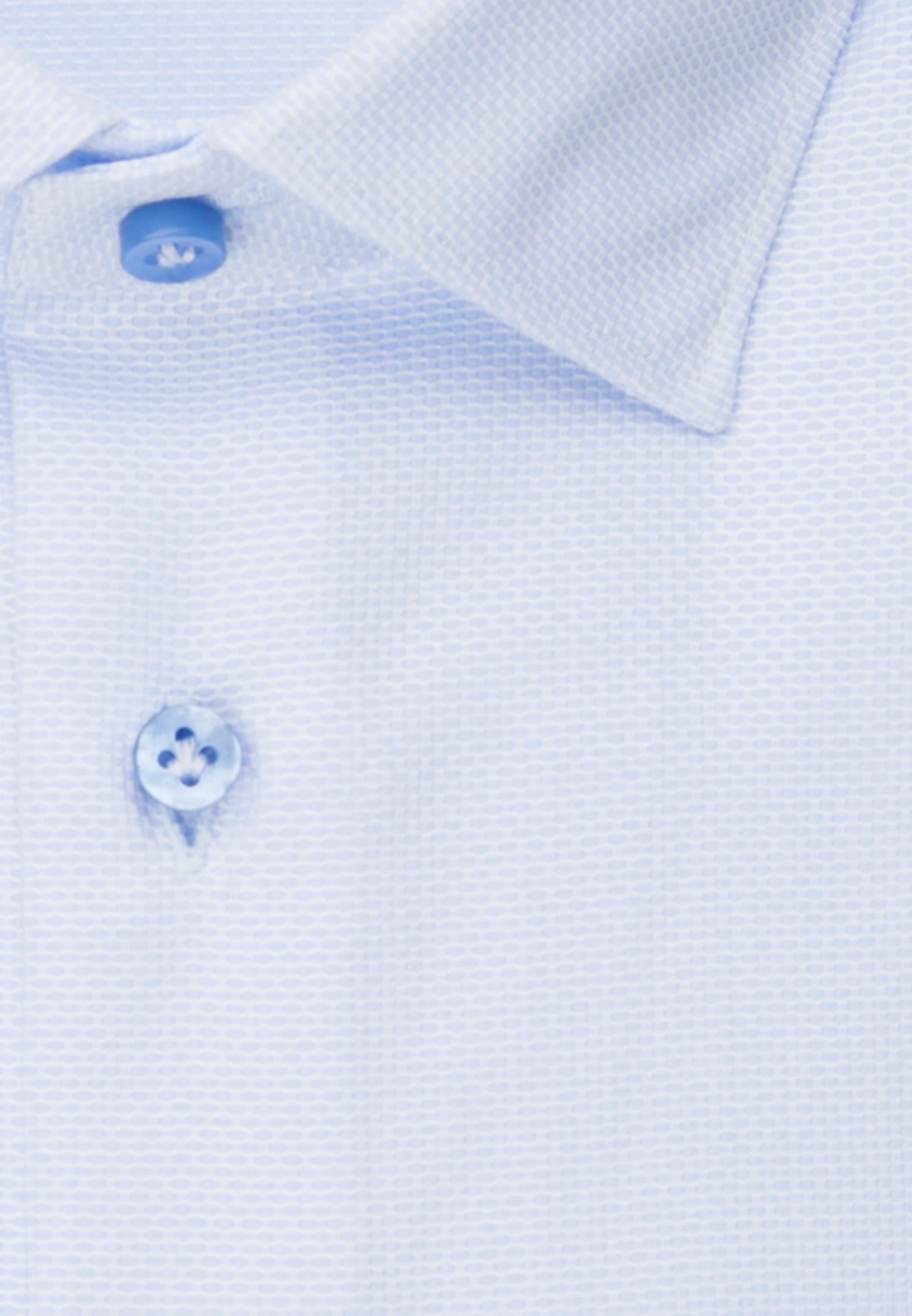 Struktur Business Hemd in Custom Fit mit Kentkragen und extra langem Arm in Hellblau |  Jacques Britt Onlineshop
