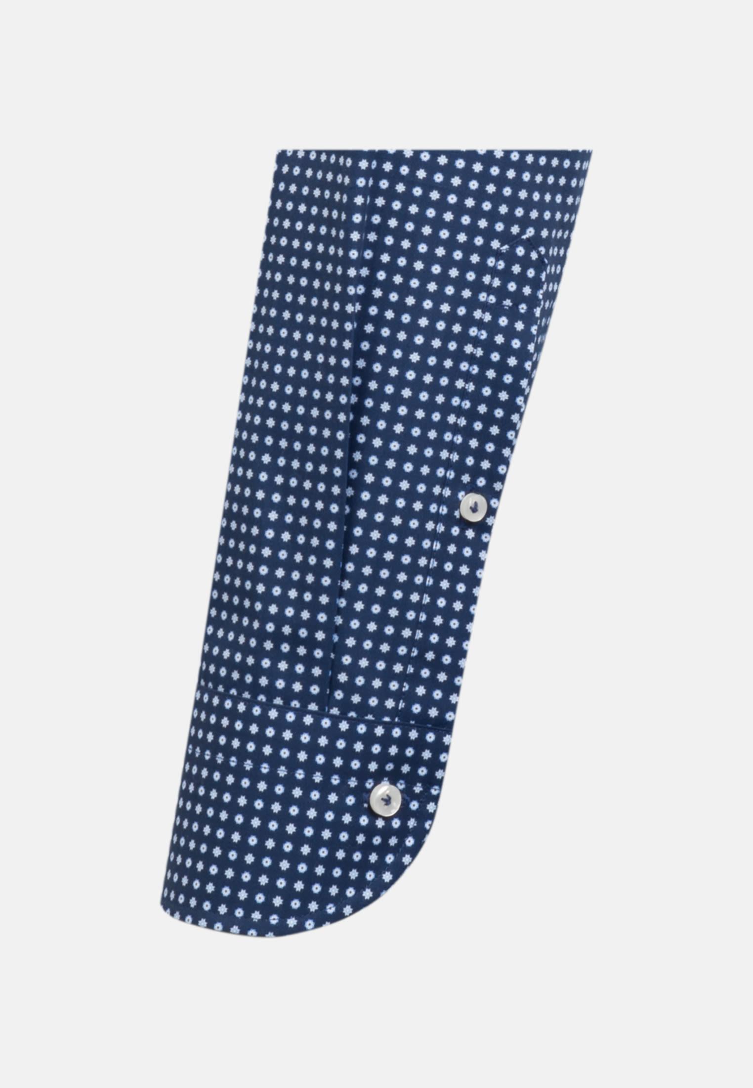Popeline Business Hemd in Slim Fit mit Haifischkragen in Dunkelblau    Jacques Britt Onlineshop