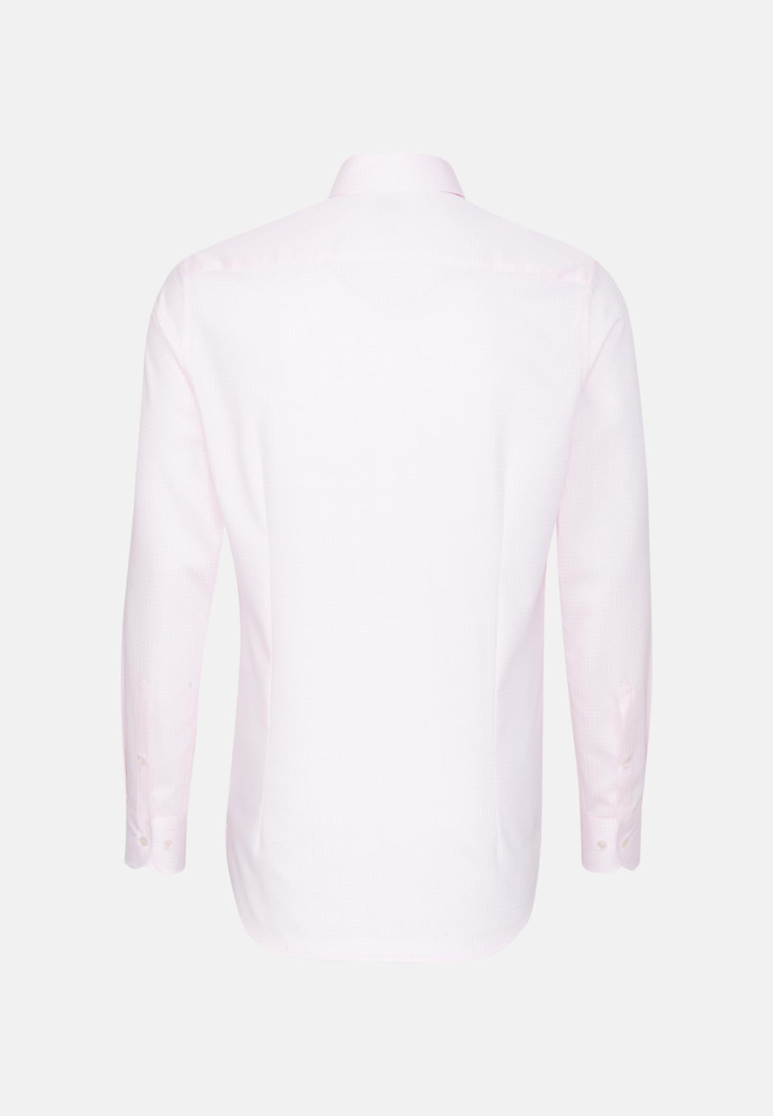Struktur Business Hemd in Custom Fit mit Under-Button-Down-Kragen in Rosa/Pink    Jacques Britt Onlineshop