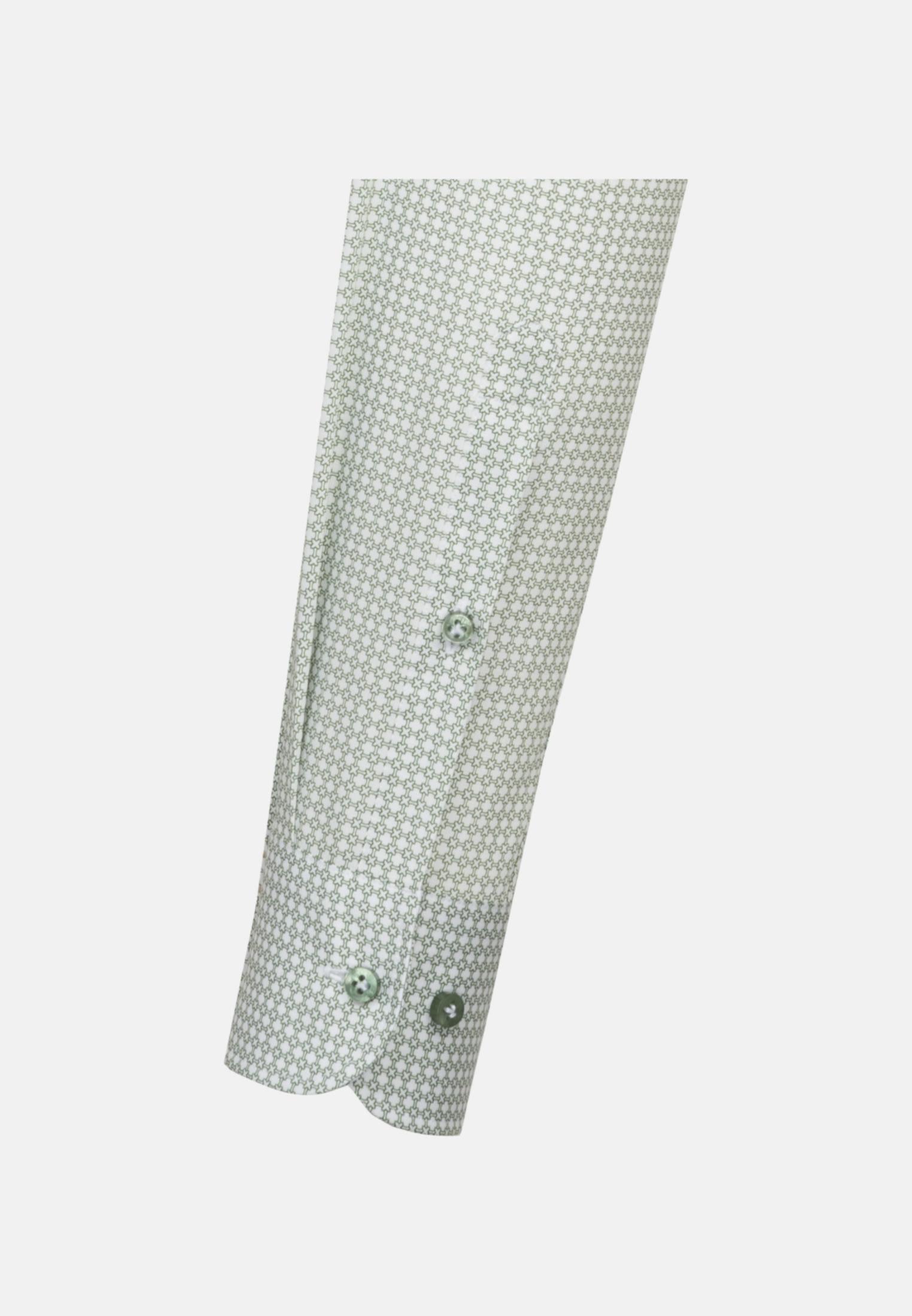Struktur Business Hemd in Custom Fit mit Under-Button-Down-Kragen in Grün |  Jacques Britt Onlineshop