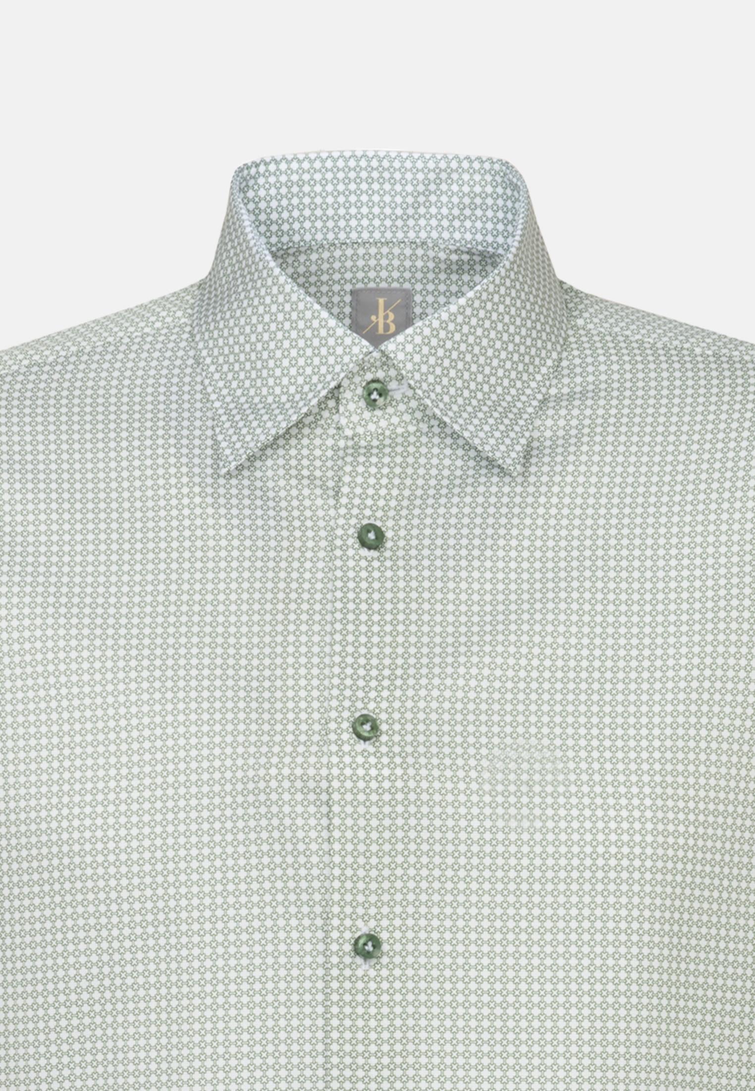 Struktur Business Hemd in Custom Fit mit Under-Button-Down-Kragen in Grün    Jacques Britt Onlineshop
