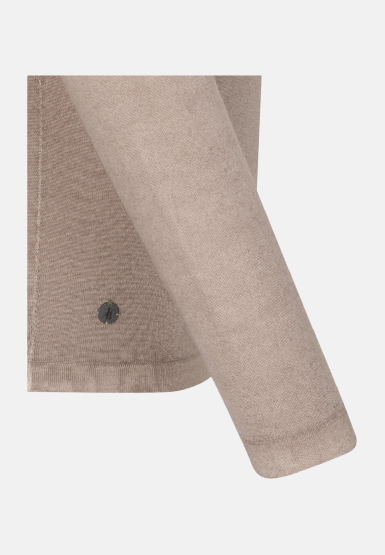 Rundhals Pullover aus 100% Wolle in Braun |  Jacques Britt Onlineshop