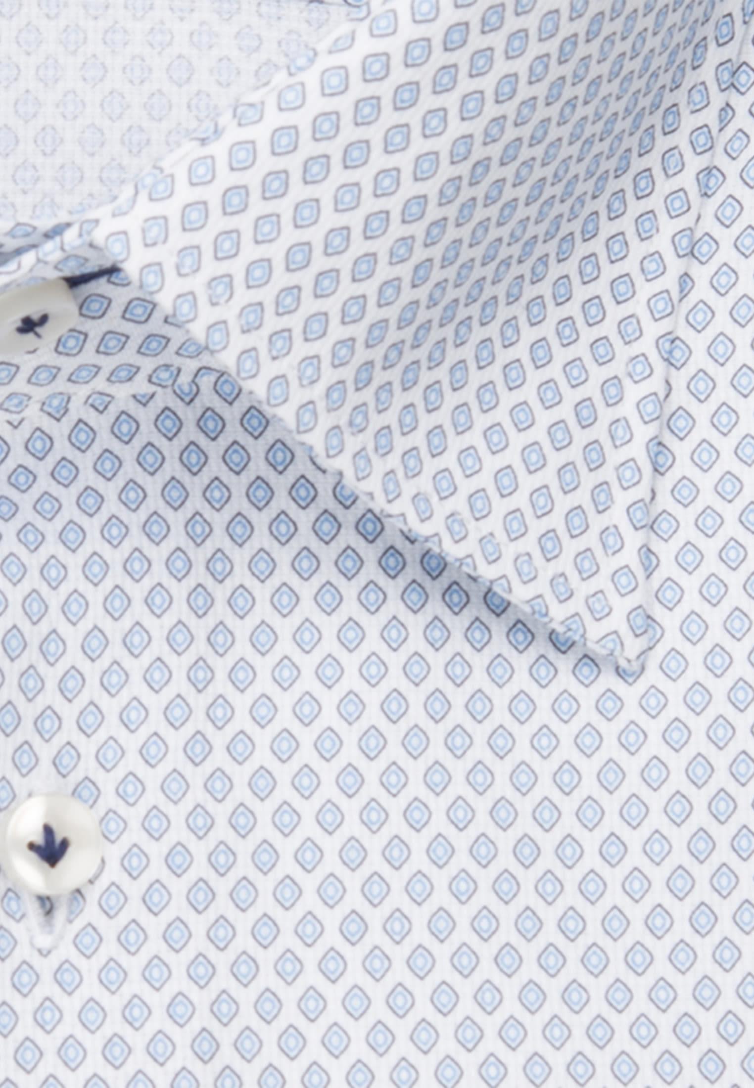 Struktur Business Hemd in Custom Fit mit Under-Button-Down-Kragen und extra langem Arm in Hellblau |  Jacques Britt Onlineshop