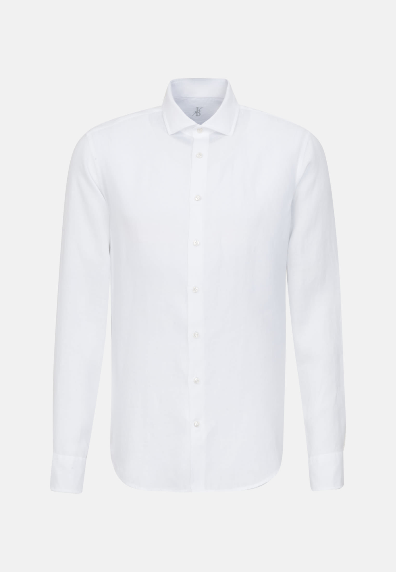 Leinen Smart Casual Hemd in Perfect Fit mit Haifischkragen in Weiß |  Jacques Britt Onlineshop