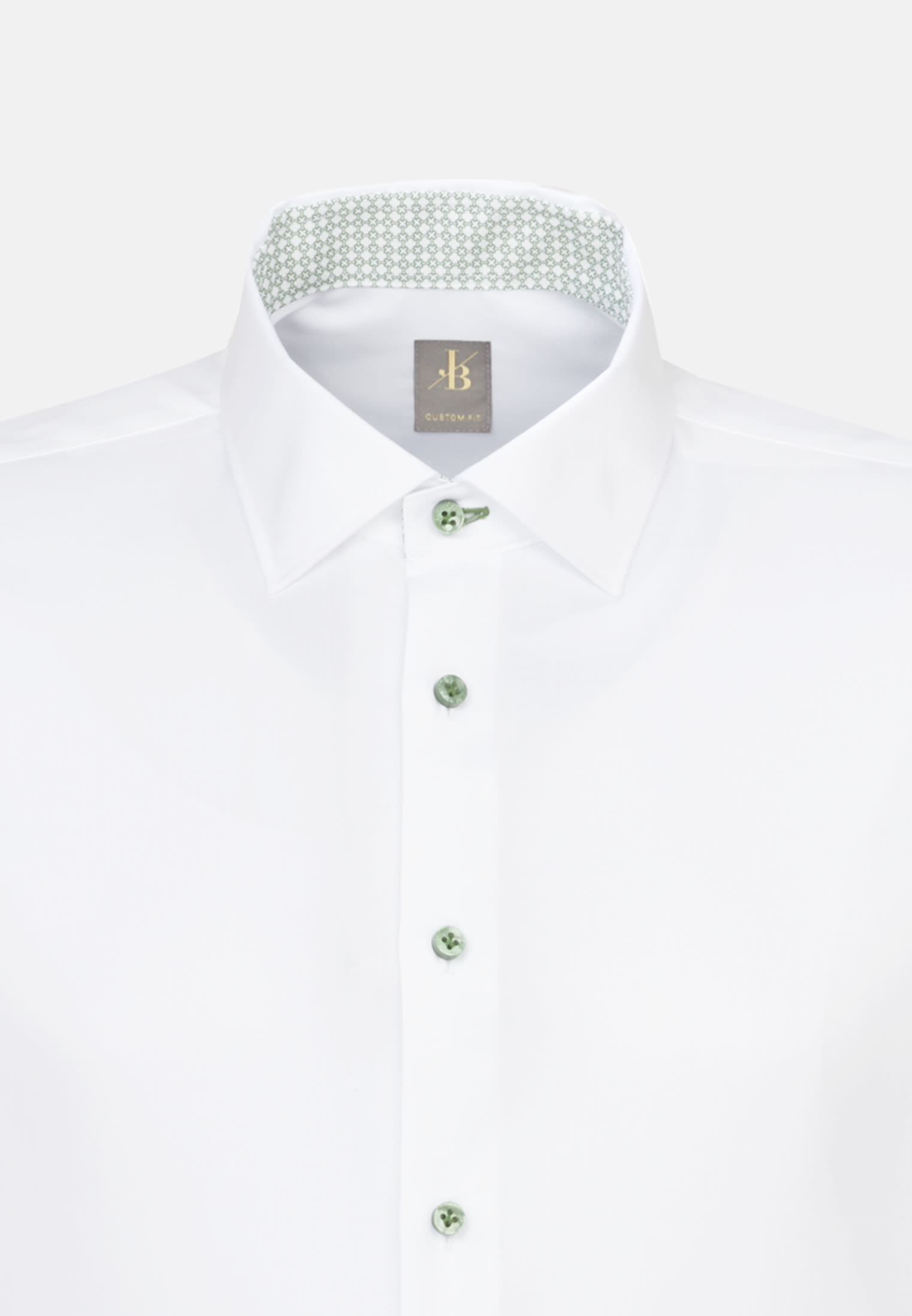 Twill Business Hemd in Custom Fit mit Kentkragen und extra langem Arm in Weiß |  Jacques Britt Onlineshop