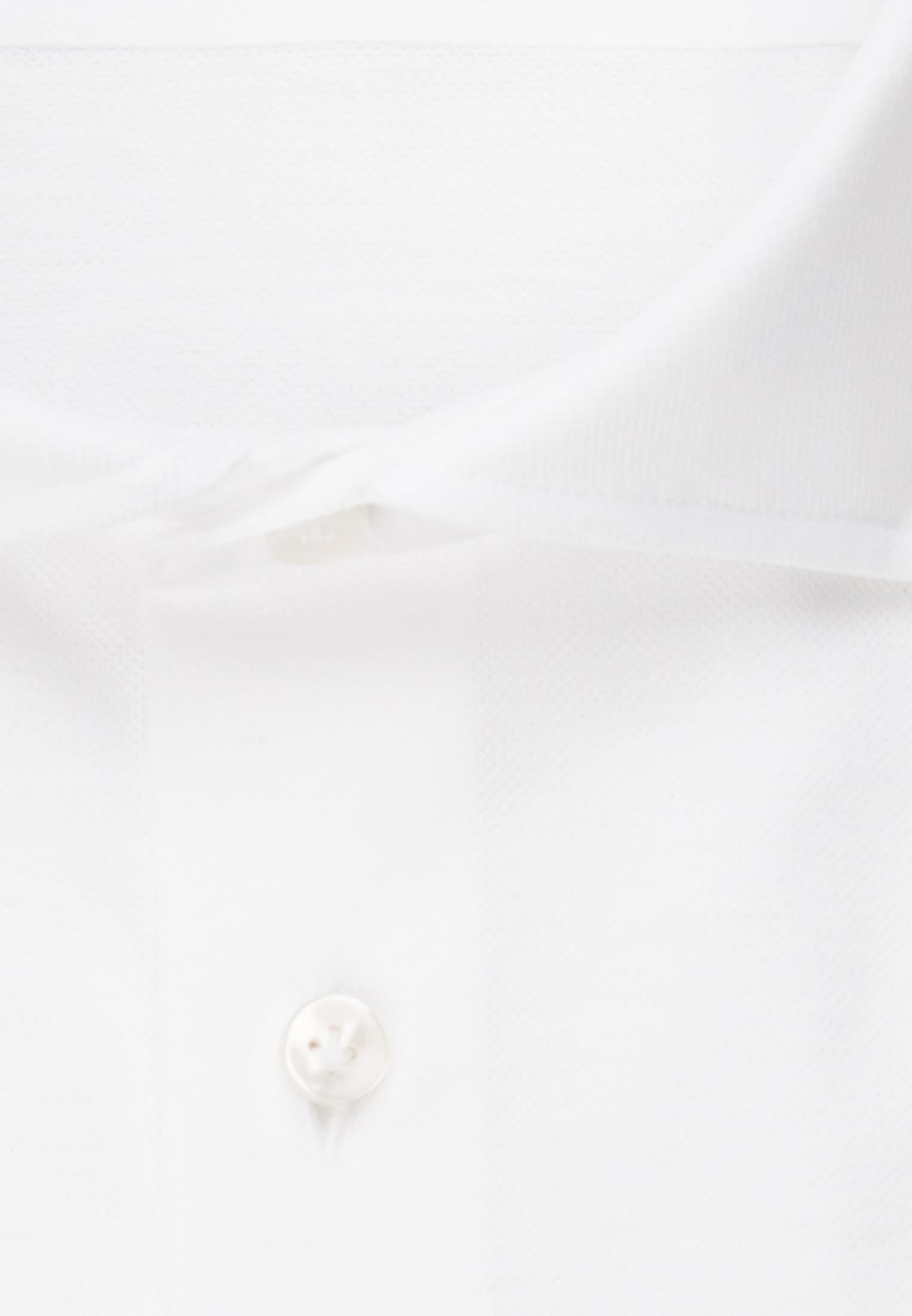 Kurzarm Jersey Smart Casual Hemd in Perfect Fit mit Haifischkragen in Weiß |  Jacques Britt Onlineshop