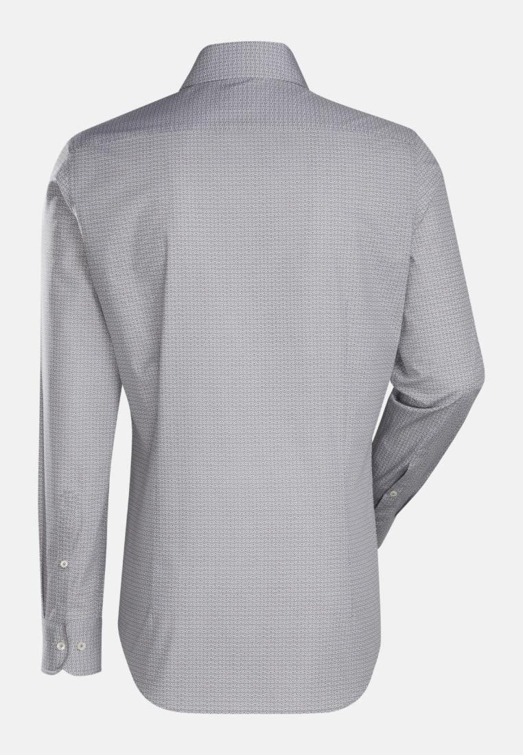 Popeline Business Hemd in Slim Fit mit Haifischkragen in Braun    Jacques Britt Onlineshop