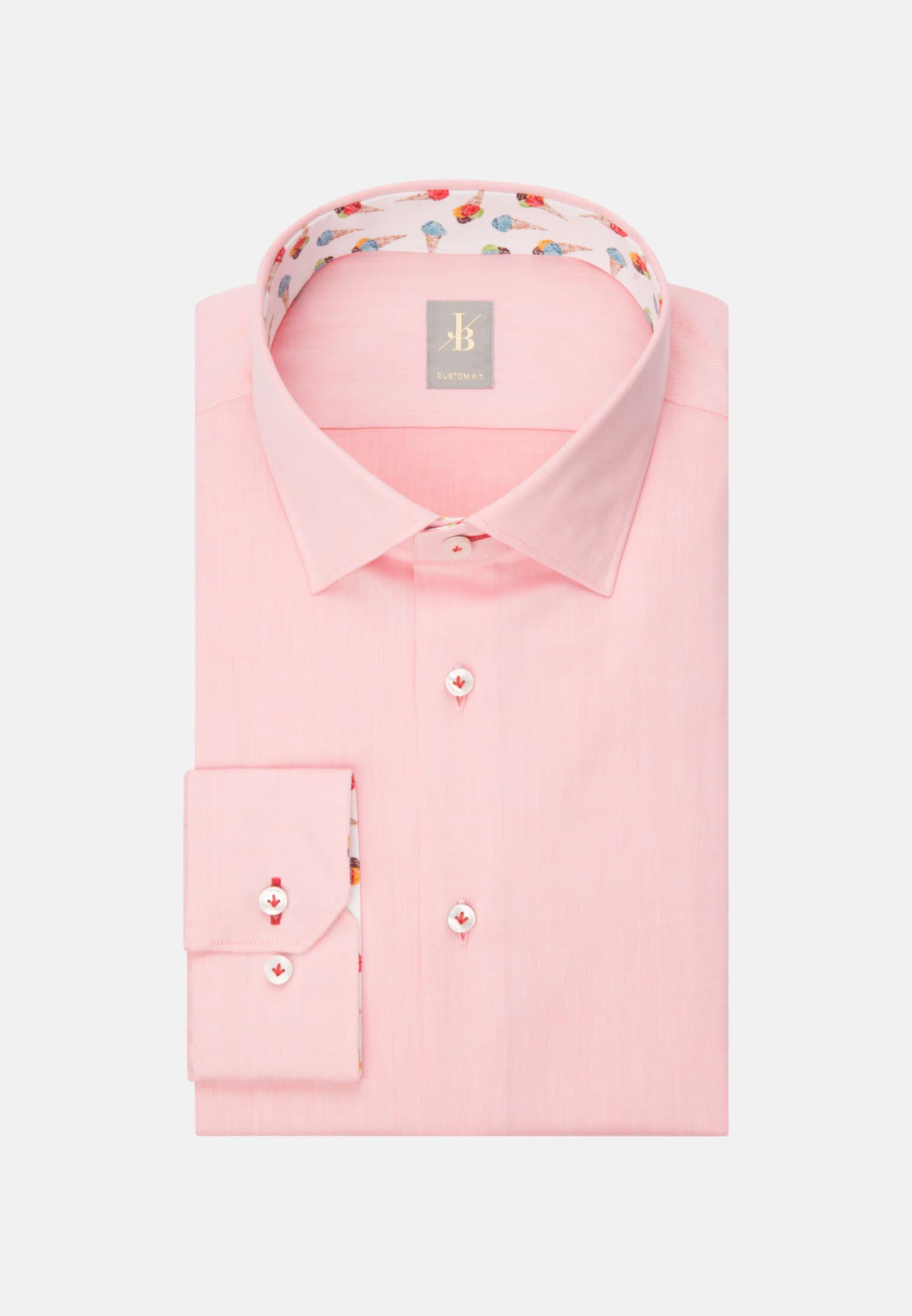 Twill Business Hemd in Custom Fit mit Kentkragen in Gelb    Jacques Britt Onlineshop