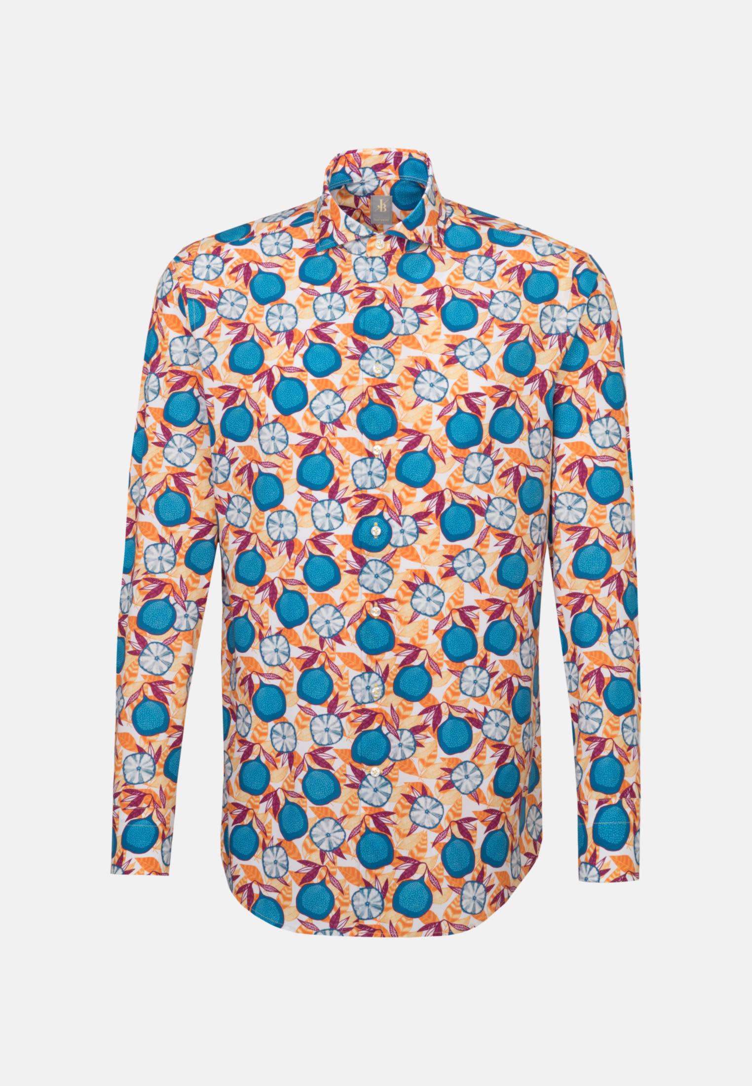Popeline Business Hemd in Custom Fit mit Haifischkragen in Gelb |  Jacques Britt Onlineshop