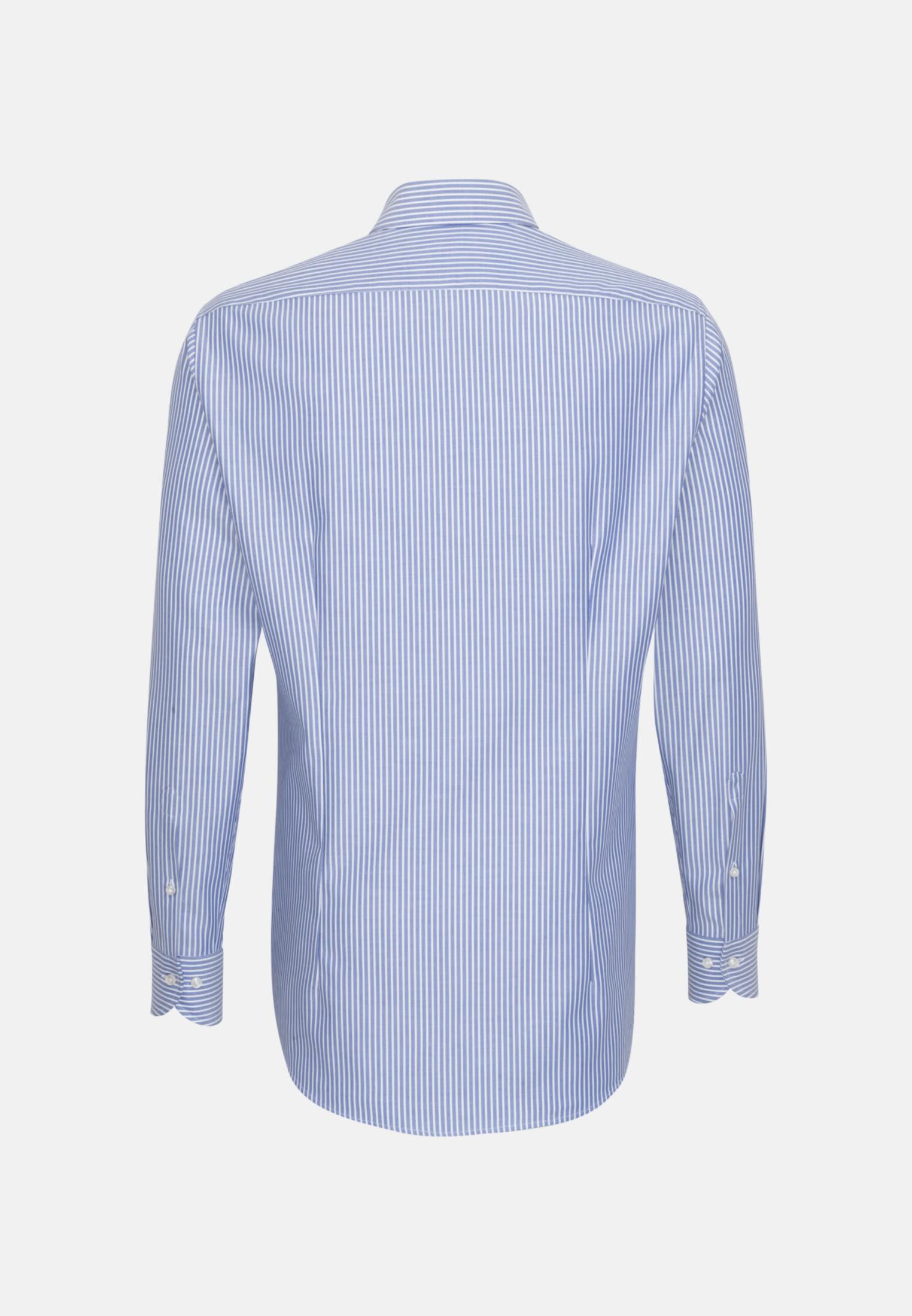 Dobby Business Hemd in Slim Fit mit Haifischkragen in Mittelblau    Jacques Britt Onlineshop