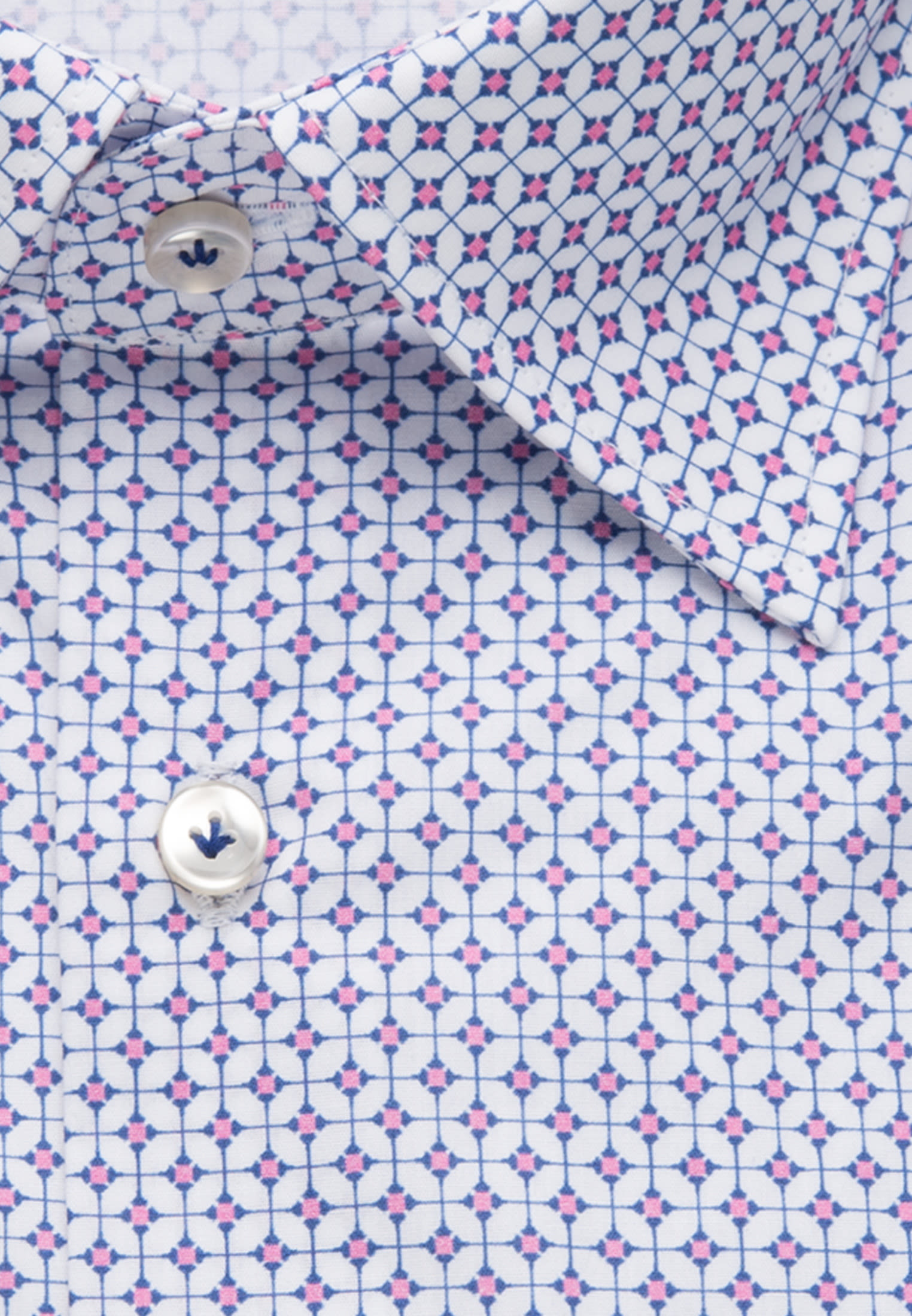 Popeline Business Hemd in Slim Fit mit Under-Button-Down-Kragen in Rosa/Pink |  Jacques Britt Onlineshop
