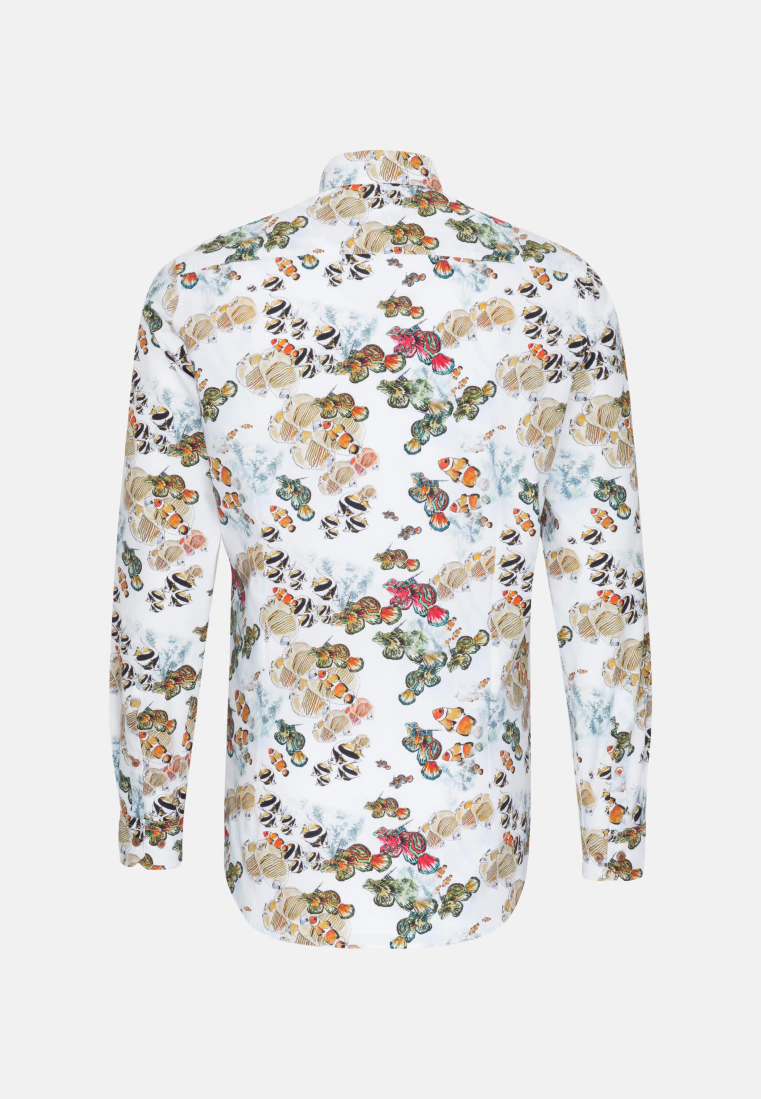 Popeline Business Hemd in Custom Fit mit Kentkragen in Braun    Jacques Britt Onlineshop