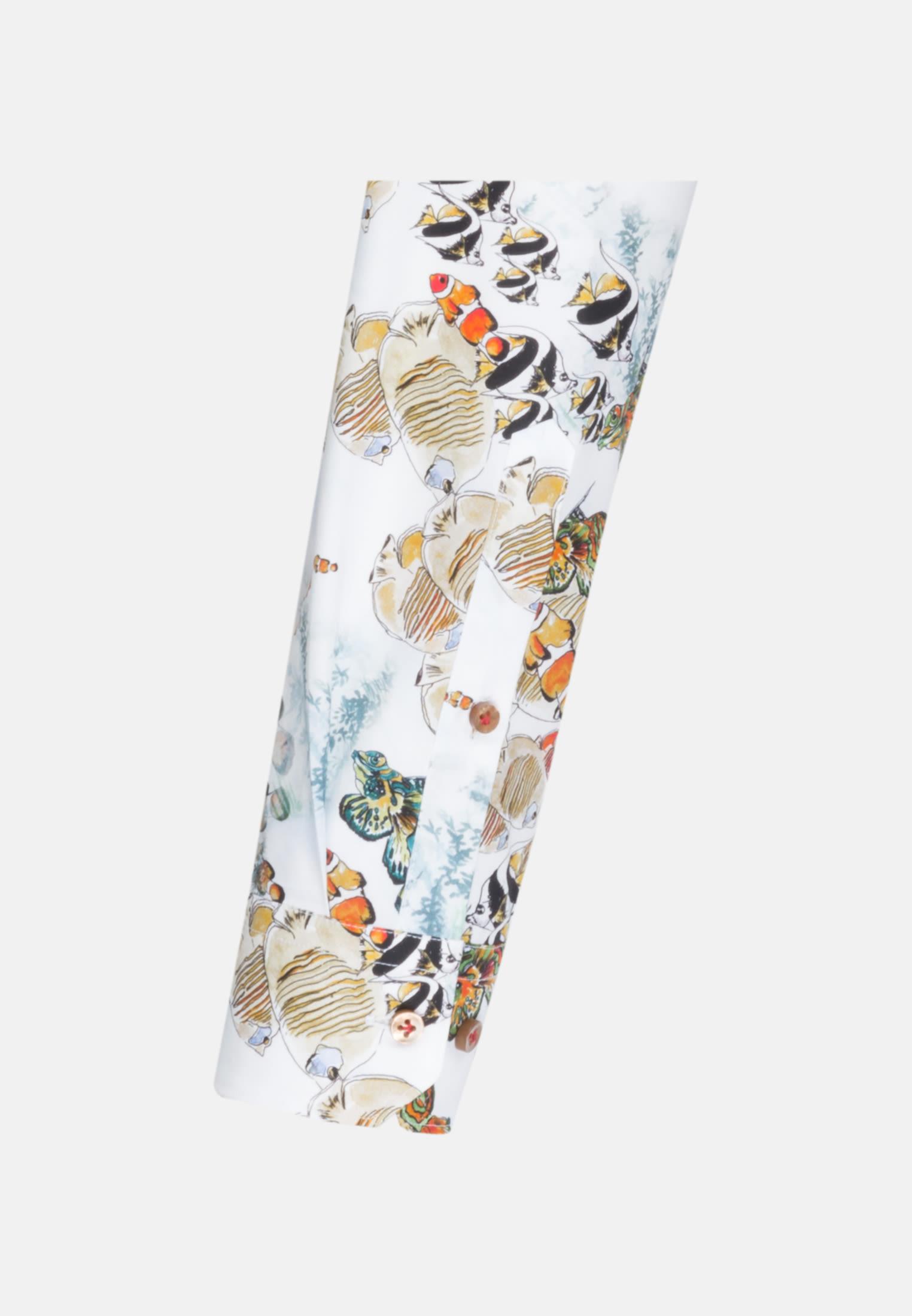 Popeline Business Hemd in Custom Fit mit Kentkragen in Braun |  Jacques Britt Onlineshop