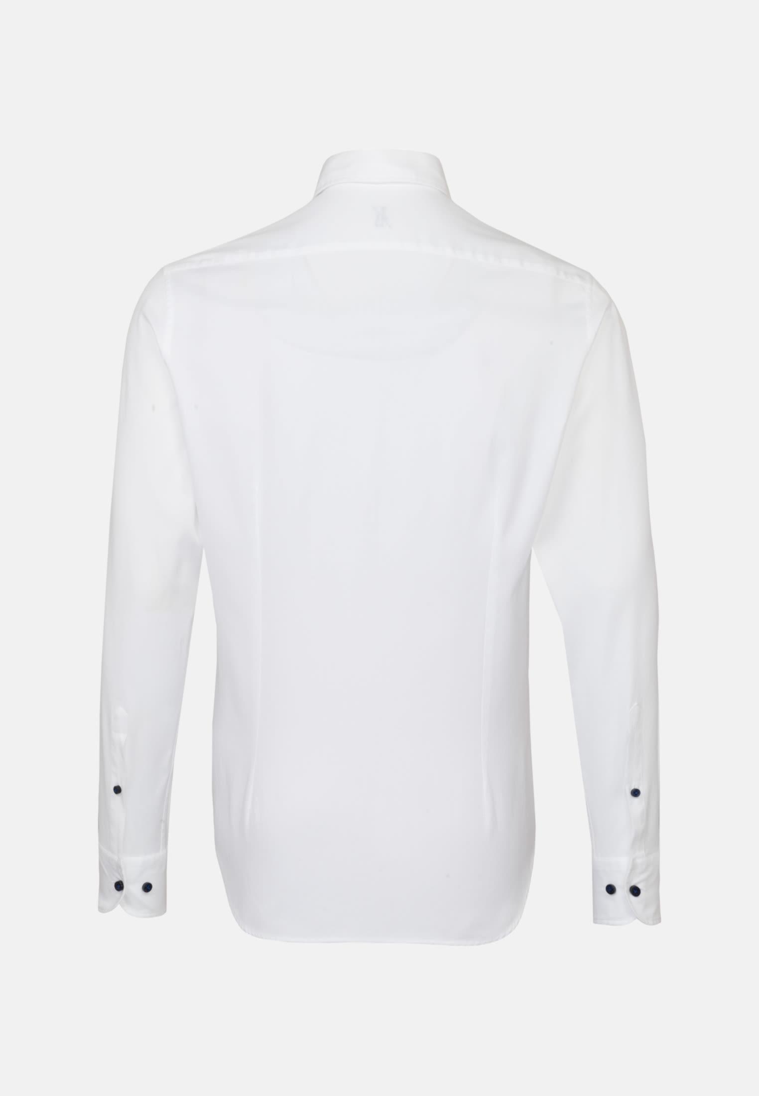 Dobby Smart Casual Hemd in Perfect Fit mit Haifischkragen in Weiß    Jacques Britt Onlineshop