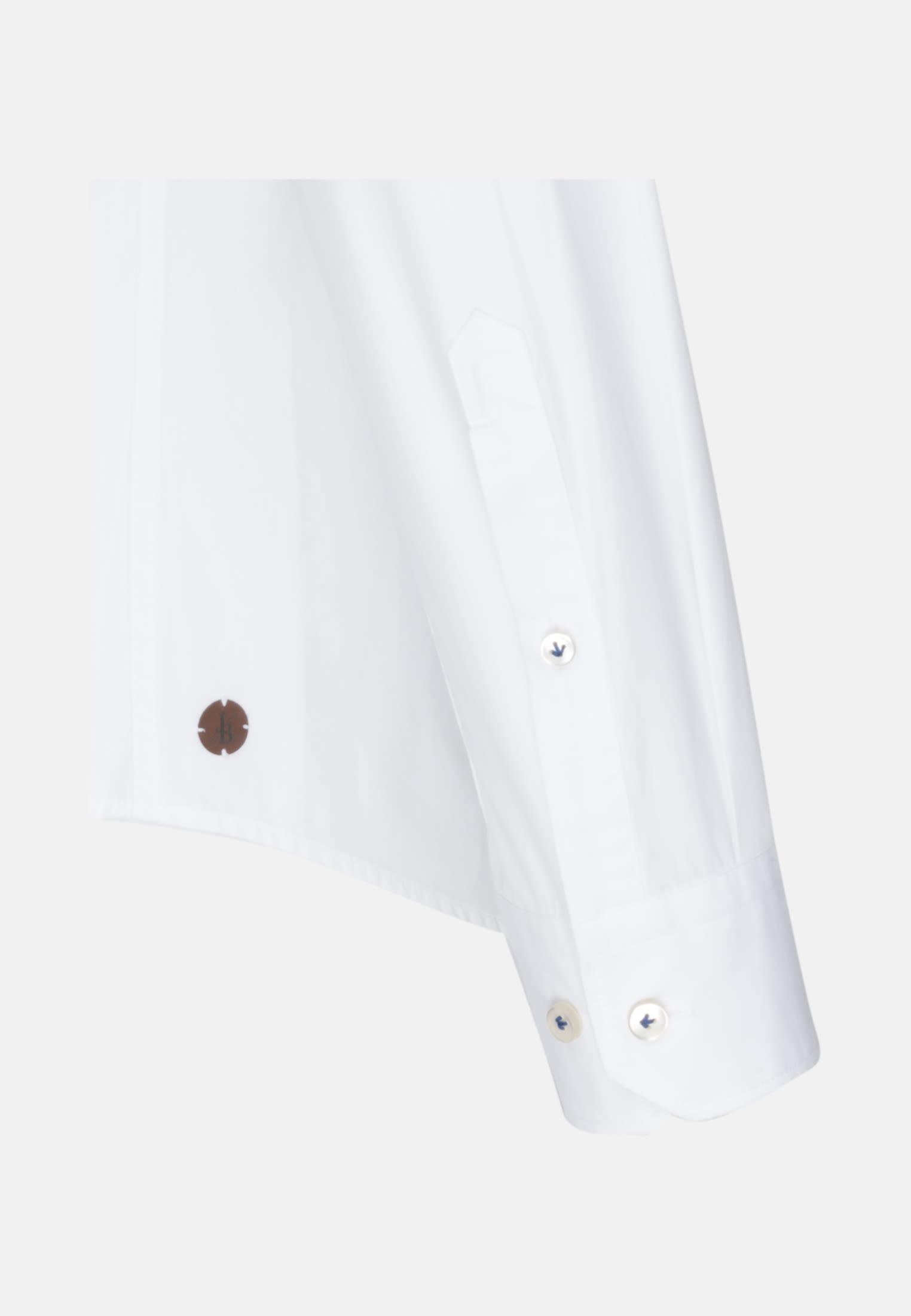 Popeline Smart Casual Hemd in Perfect Fit mit Kentkragen in Weiß |  Jacques Britt Onlineshop