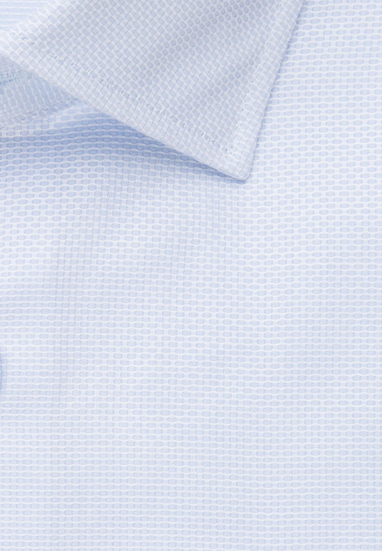 Kurzarm Struktur Business Hemd in Custom Fit mit Kentkragen in Hellblau |  Jacques Britt Onlineshop
