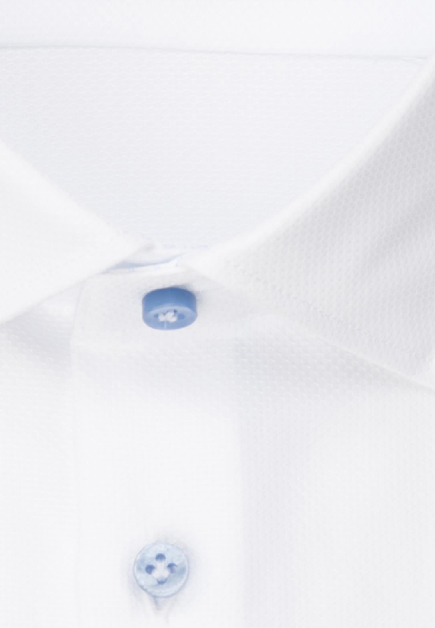 Kurzarm Struktur Business Hemd in Custom Fit mit Kentkragen in Weiß |  Jacques Britt Onlineshop